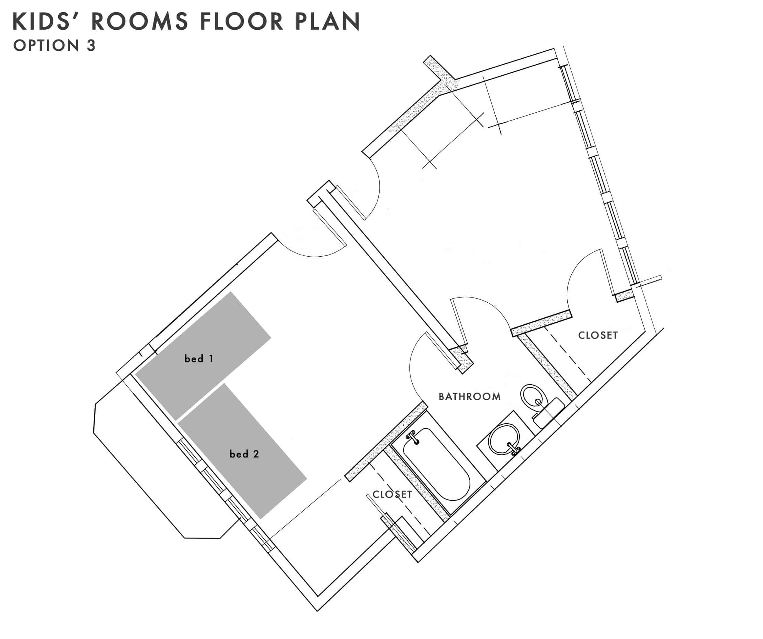 Emily Henderson Kids Floor Plan Option 3