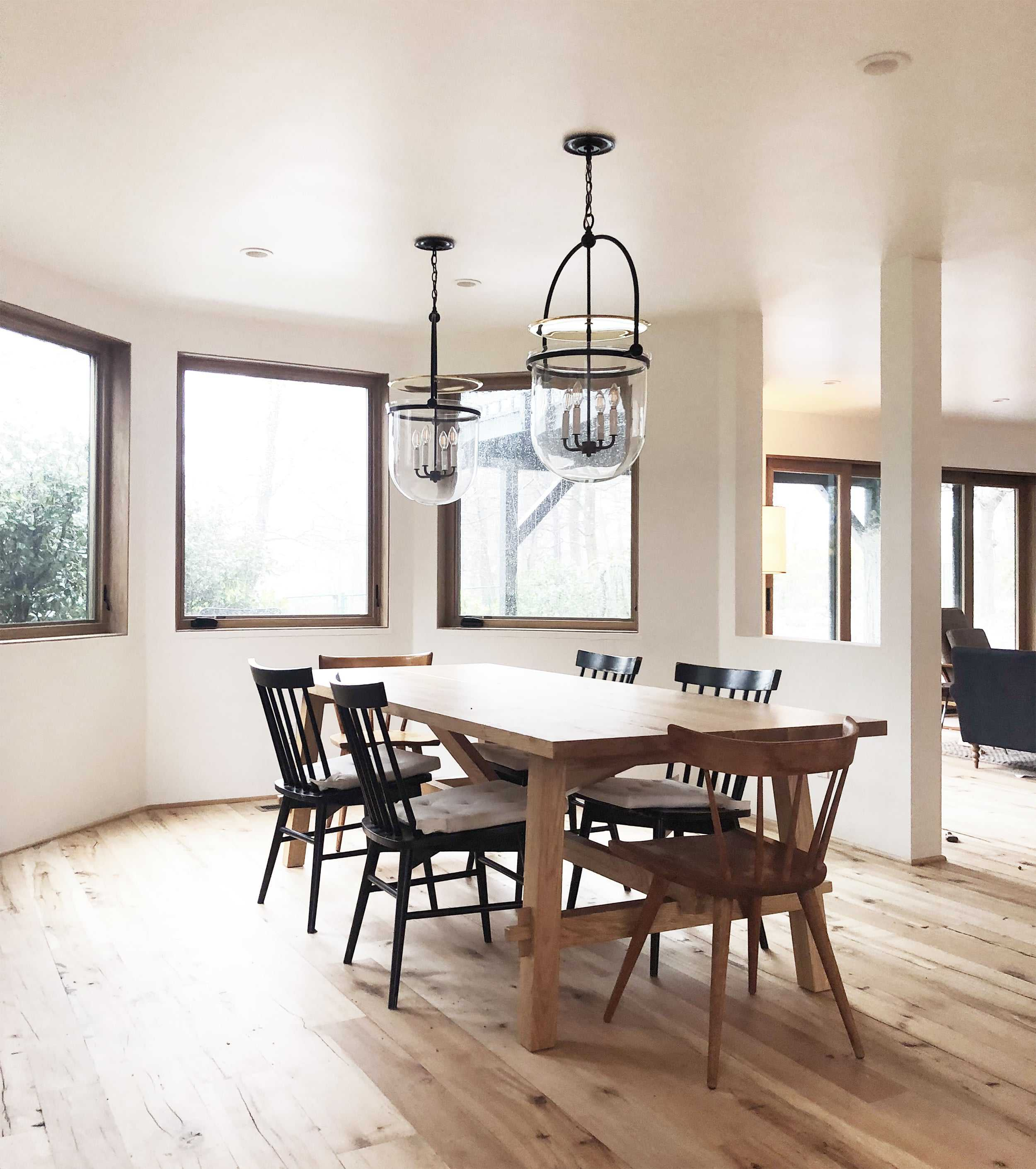 Emily Henderson Mountain House Dining Room Rectangle Table
