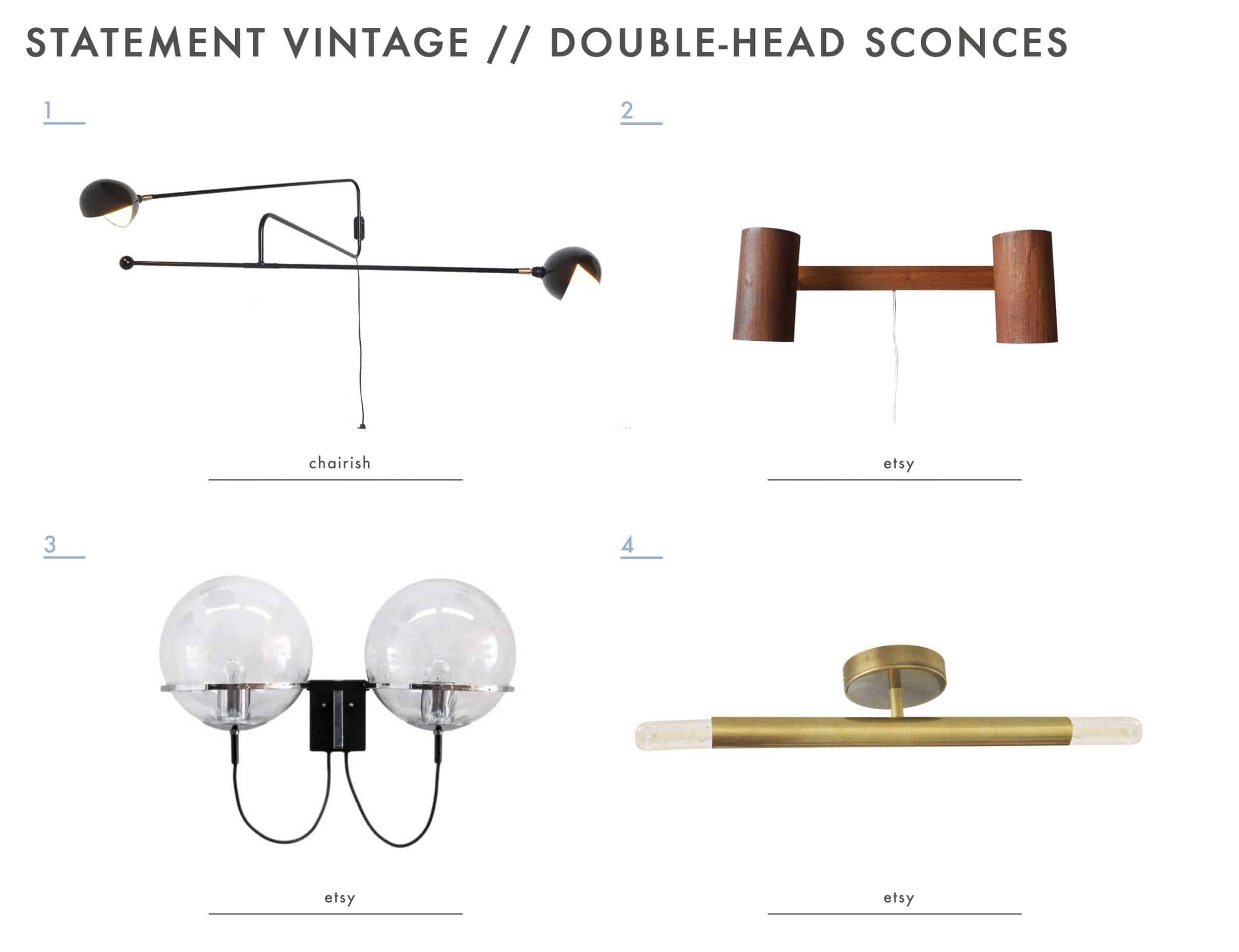 Emily Henderson Mountain House Statement Vintage Lighting Double Head Sconce