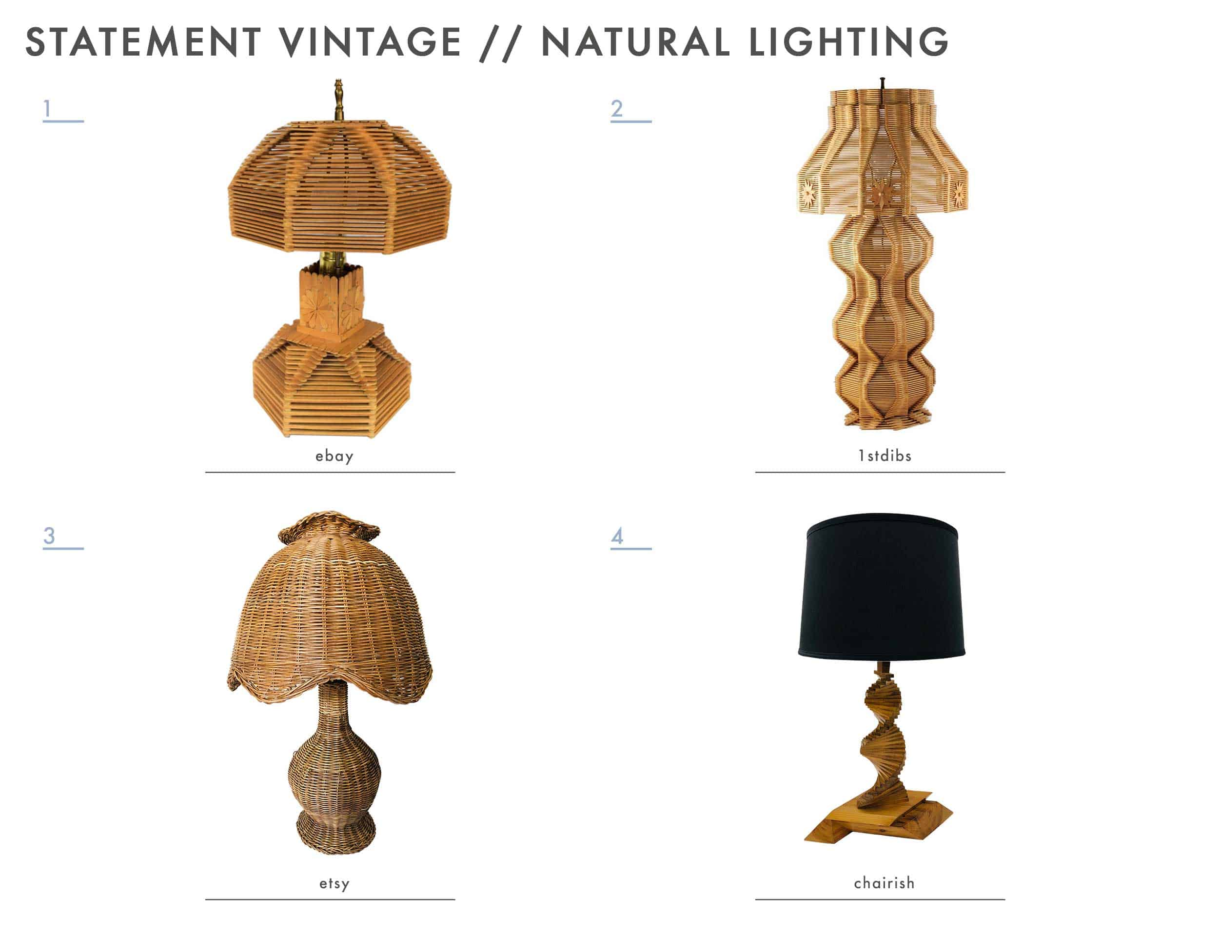 Emily Henderson Mountain House Statement Vintage Lighting Natural