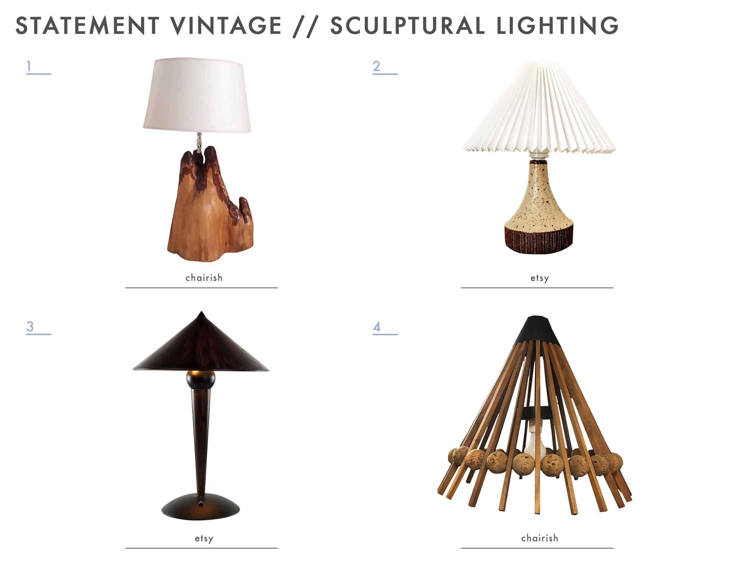 Emily Henderson Mountain House Statement Vintage Lighting Sculptural