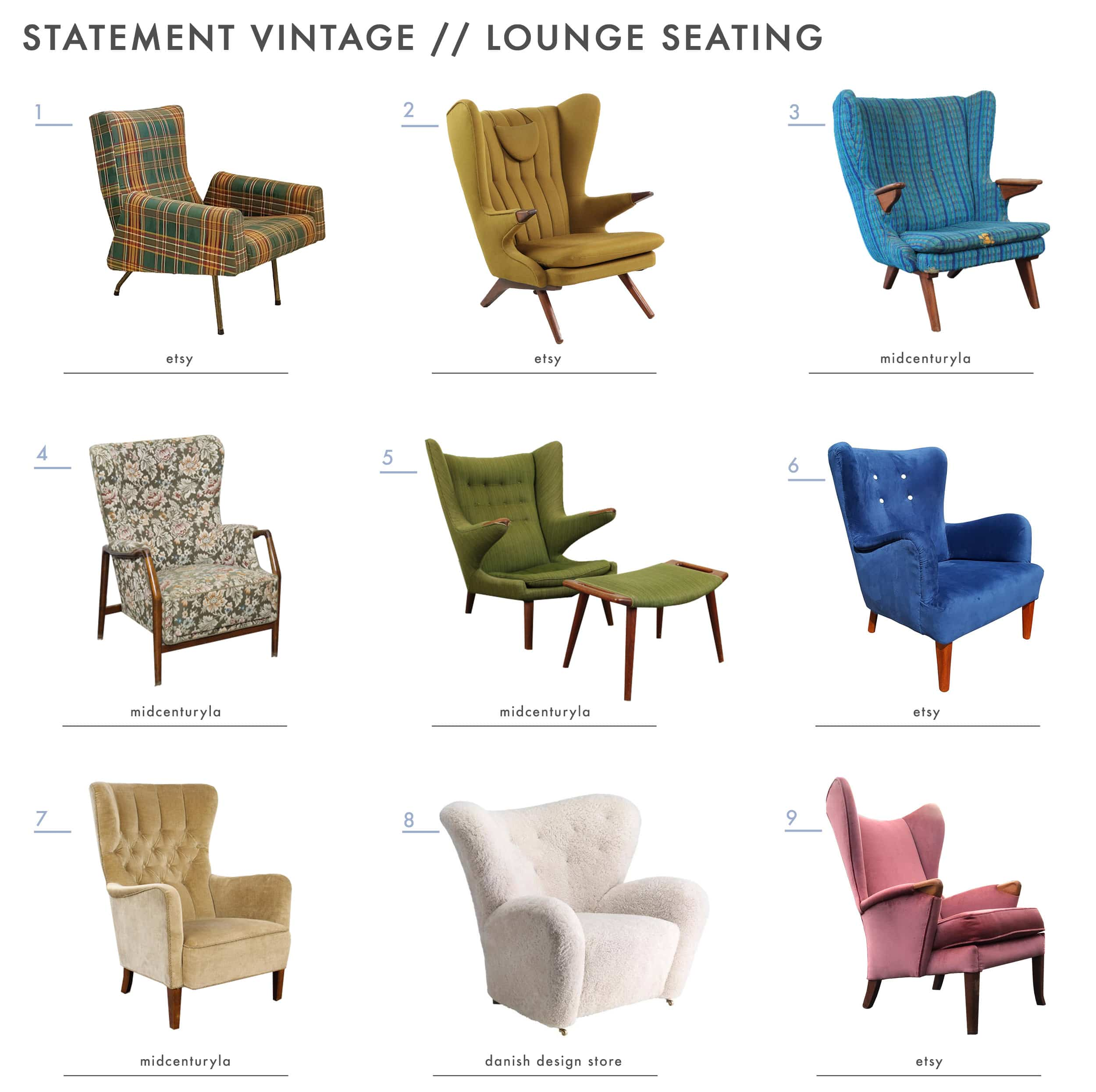 Emily Henderson Mountain House Statement Vintage Seating Lounge