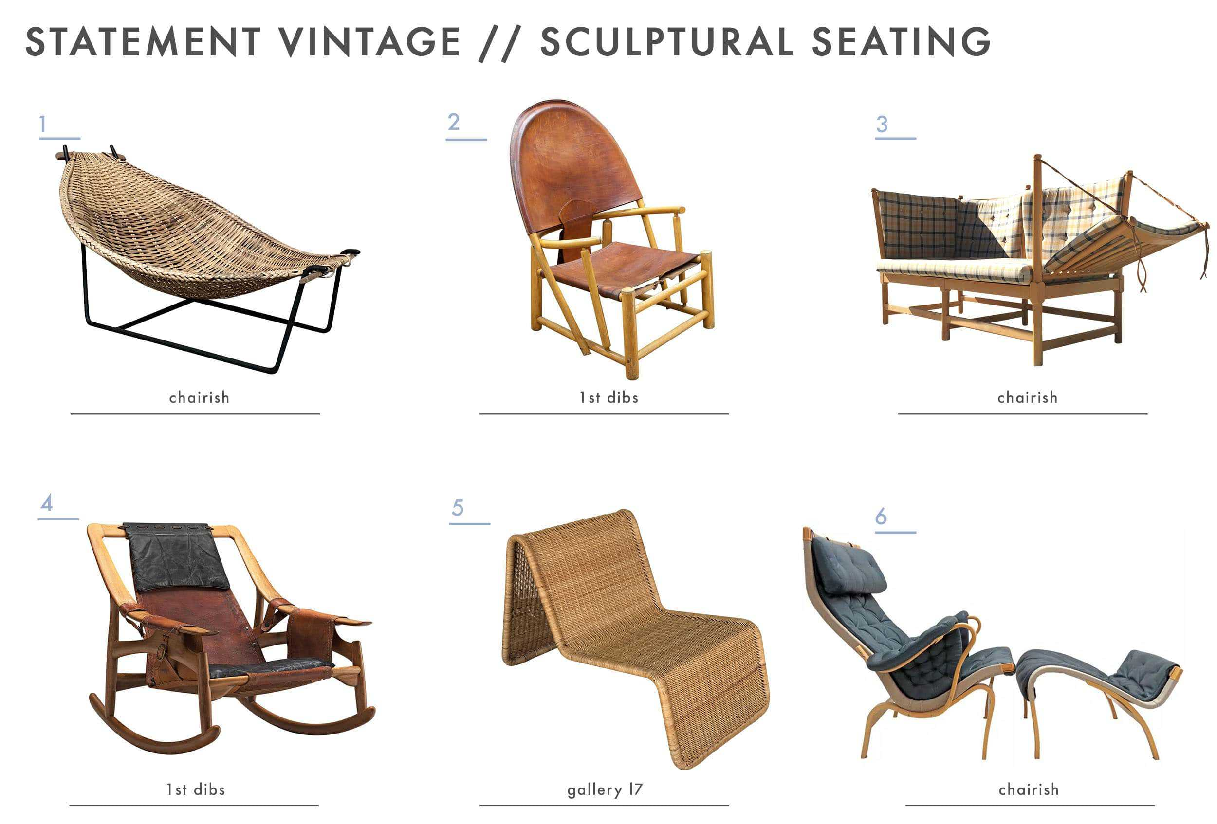 Emily Henderson Mountain House Statement Vintage Seating Sculptural