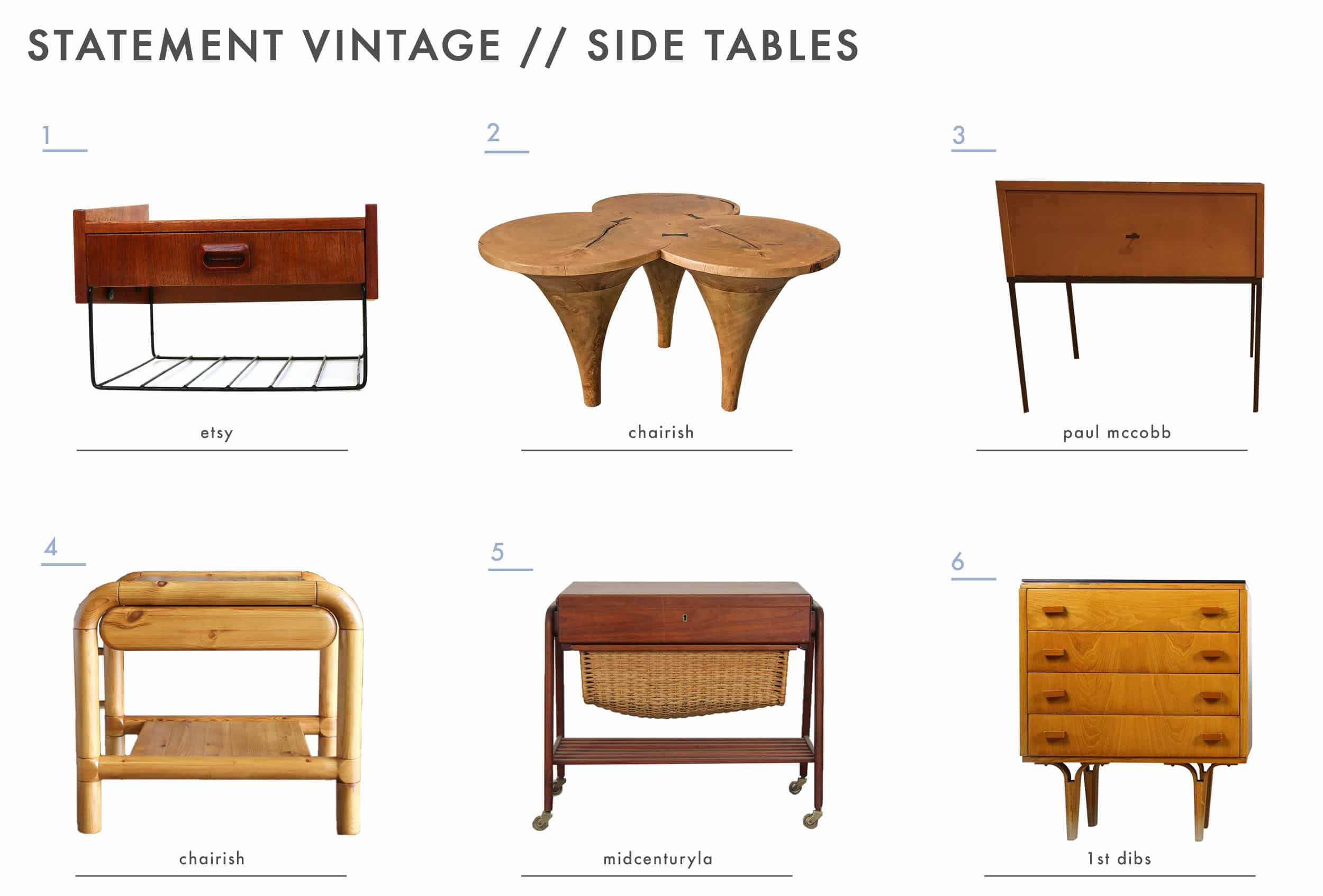 Emily Henderson Mountain House Statement Vintage Side Tables