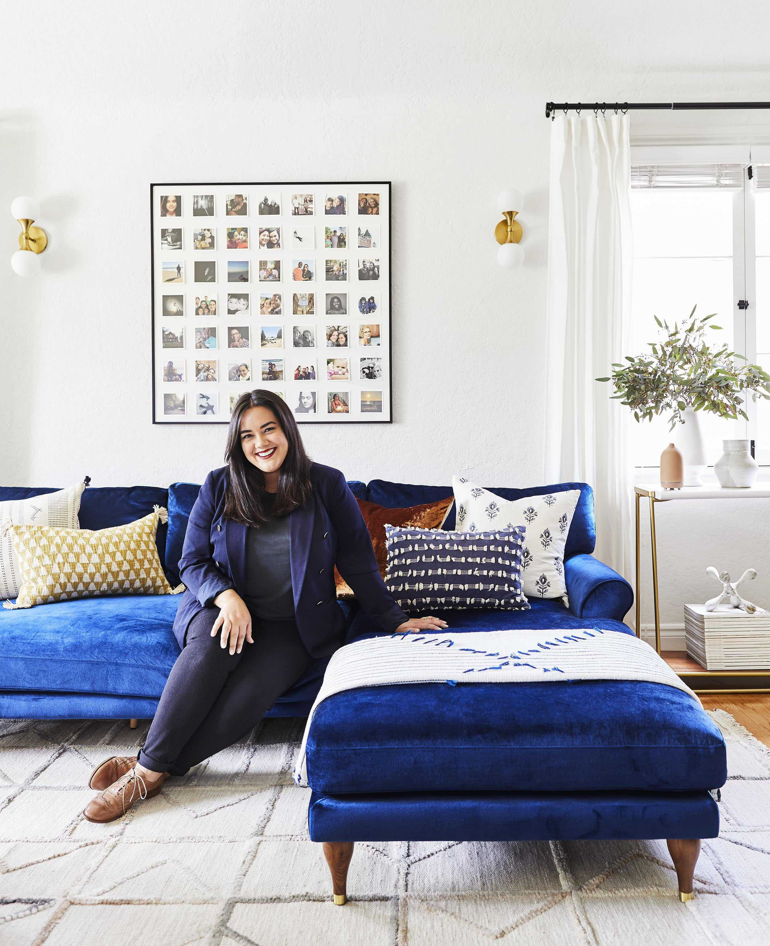 A Light, Bright & Luxe Living Room Makeover (It's A Rental