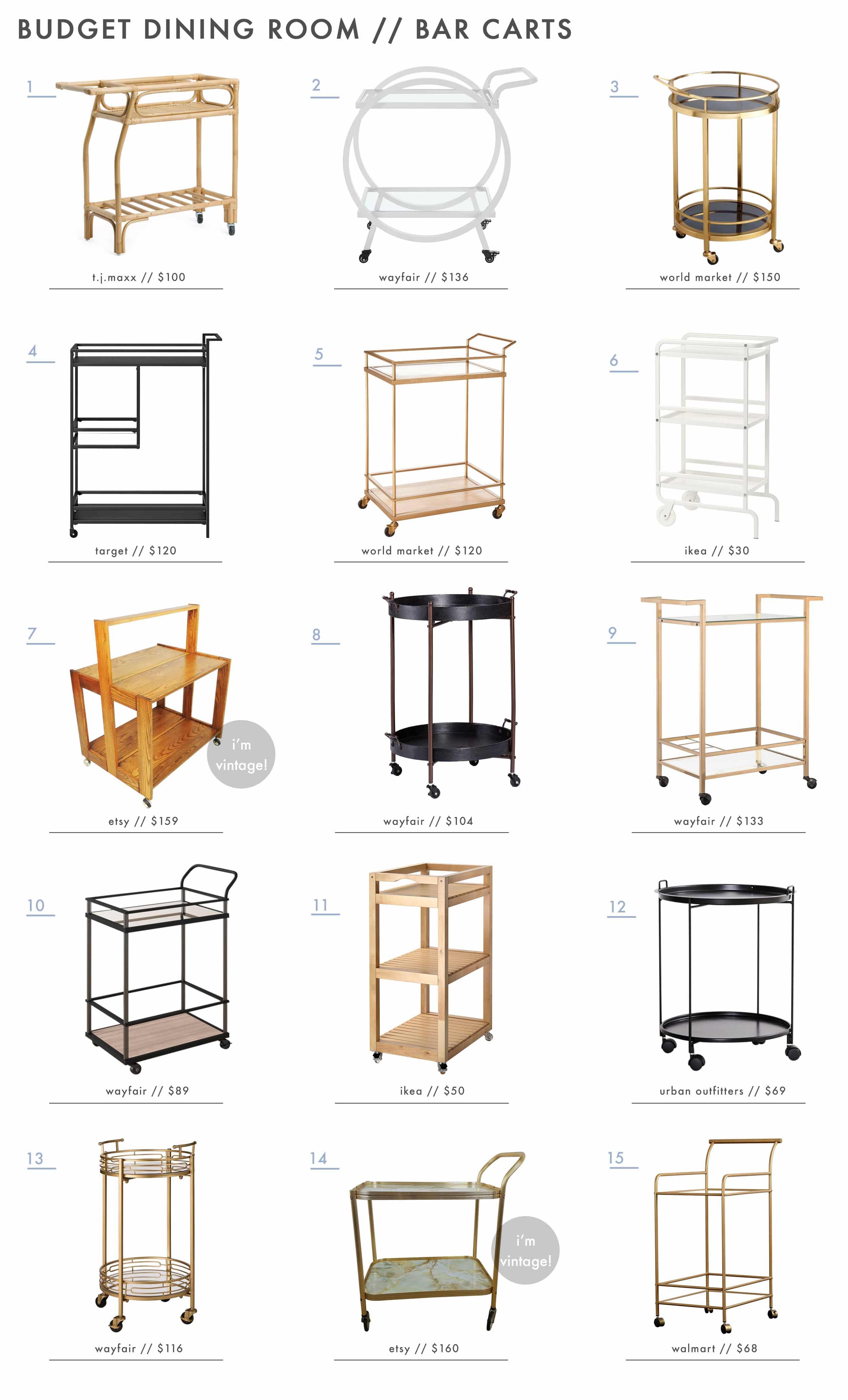 Emily Henderson Budget Dining Room Sets Bar Carts1