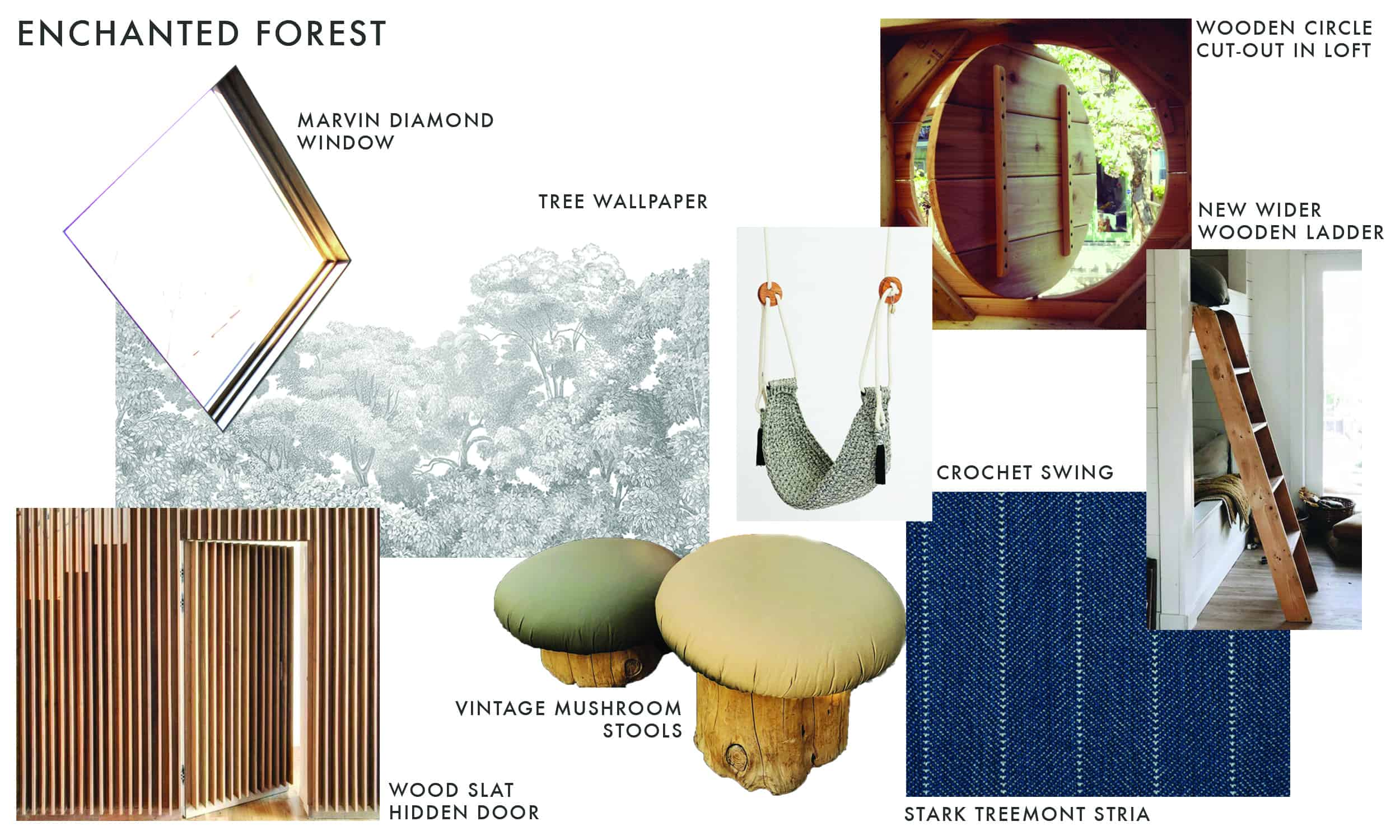 Emily Henderson Mountain Fixer I Design You Decide Kids Attic Mood Board Enchanted Forest