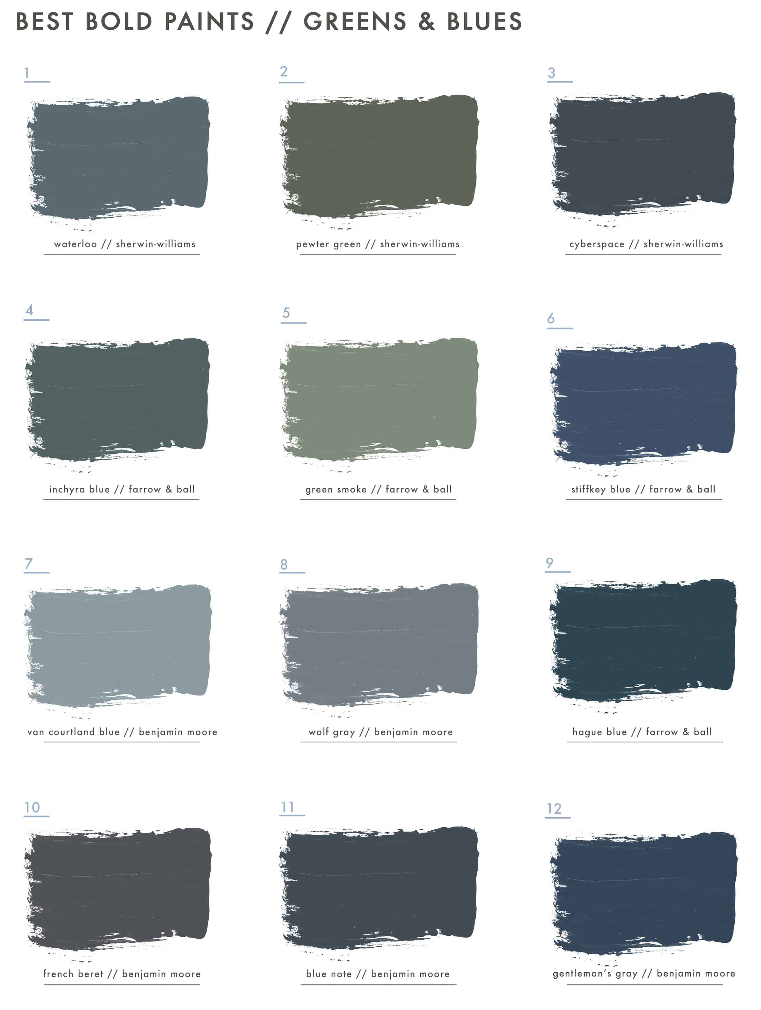 Emily Henderson Best Paint Colors Bold Blues & Greens New