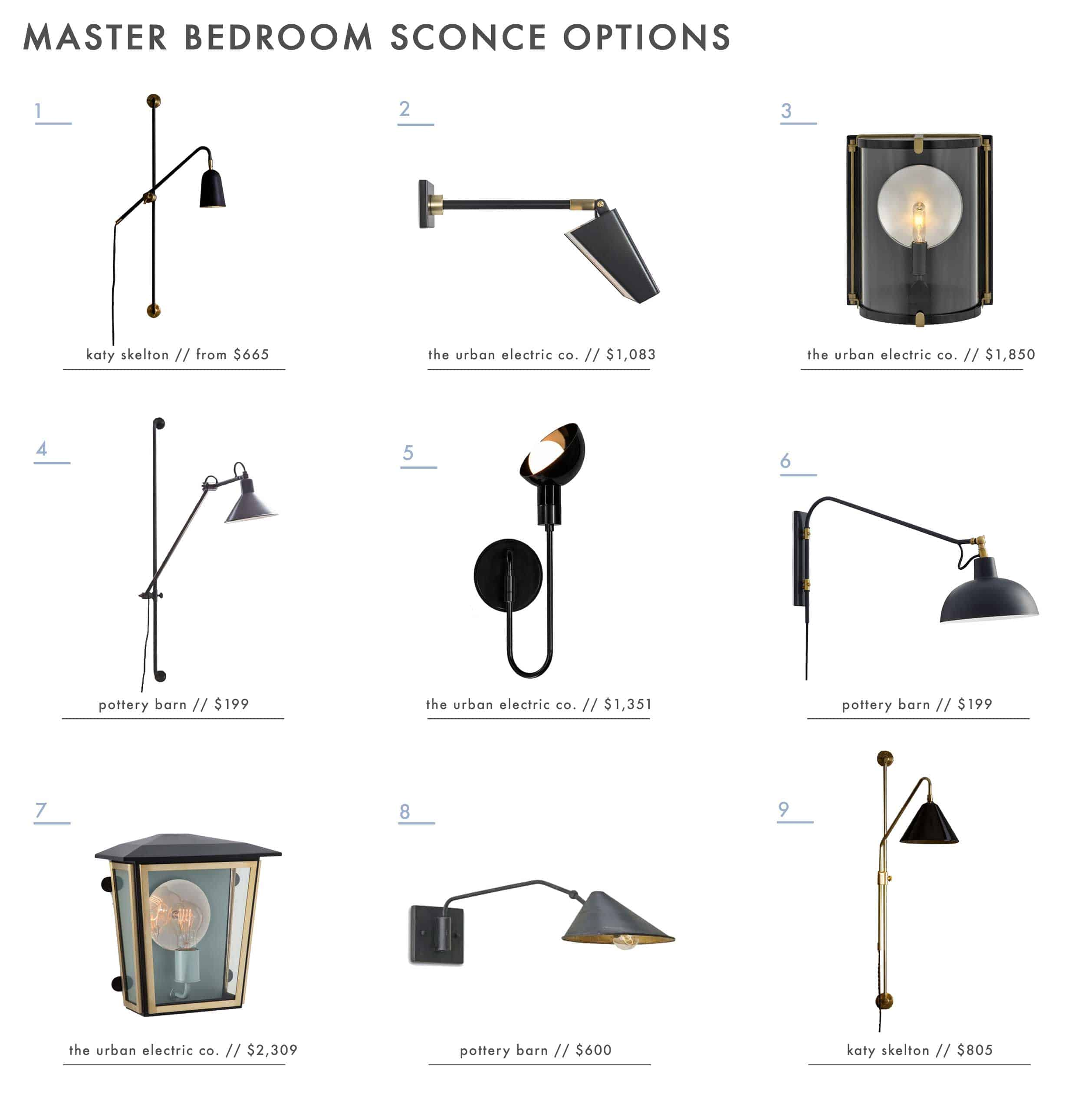 Emily Henderson Roundup Master Bedroom Sconces