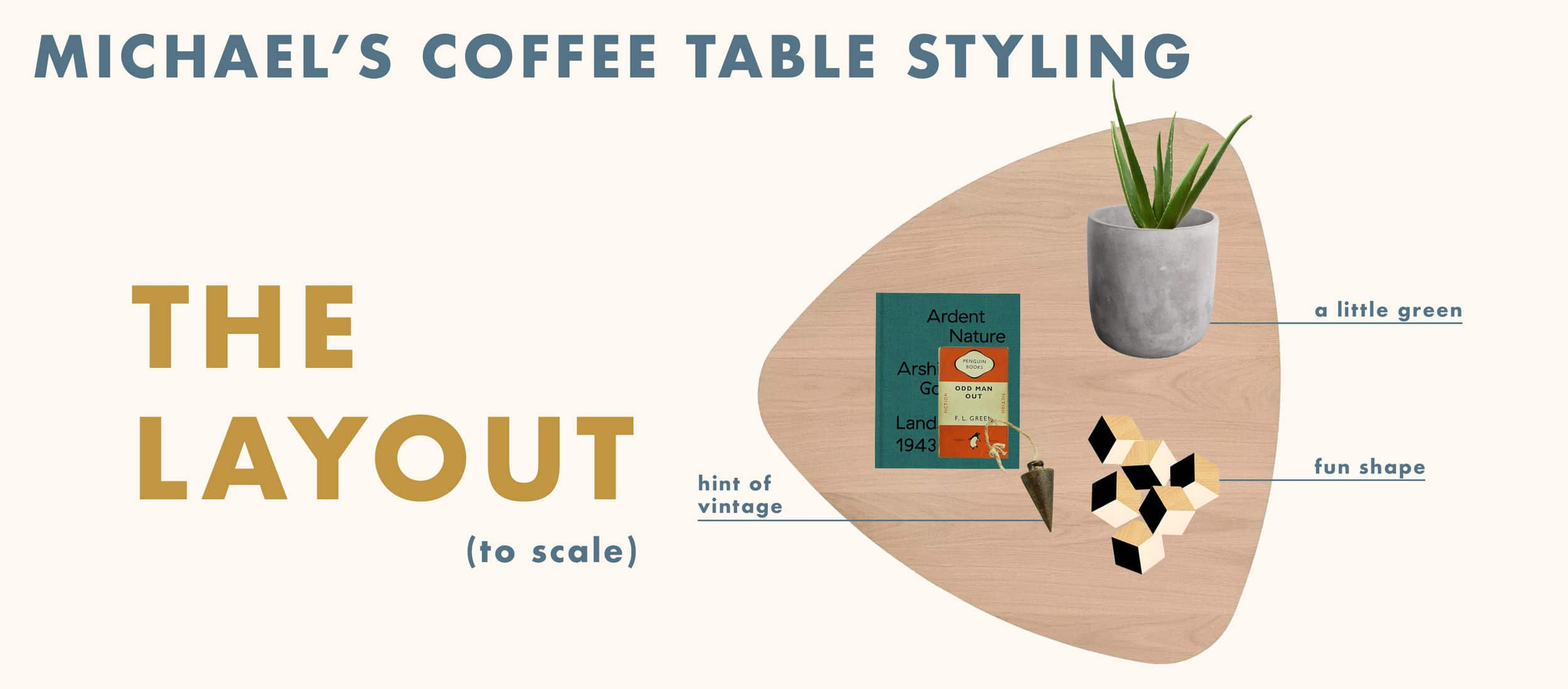 Emily Henderson Ehd Team Challenge Coffee Table Styling Layout Michael