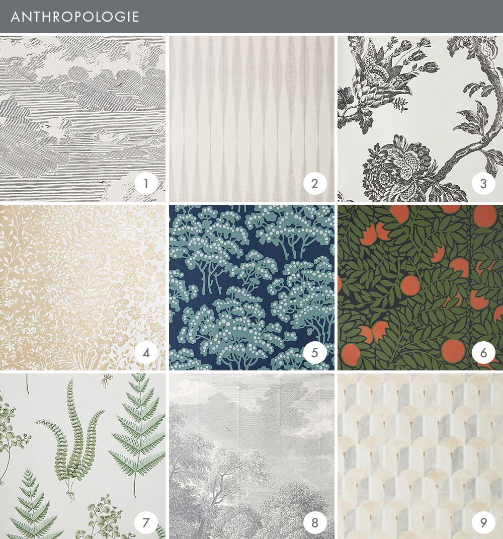 Emily Henderson Online Wallpaper Roundup Anthropologie Updated