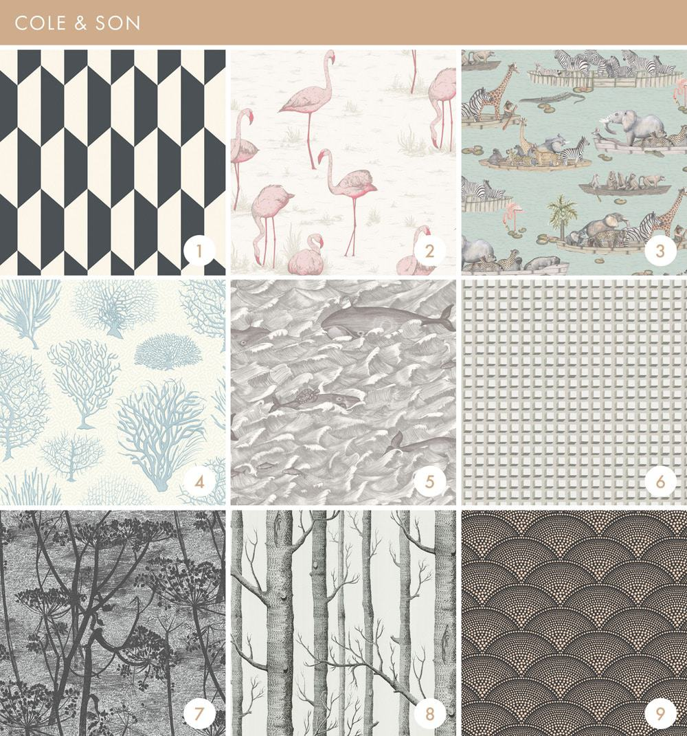 Emily Henderson Online Wallpaper Roundup Cole & Sons 1