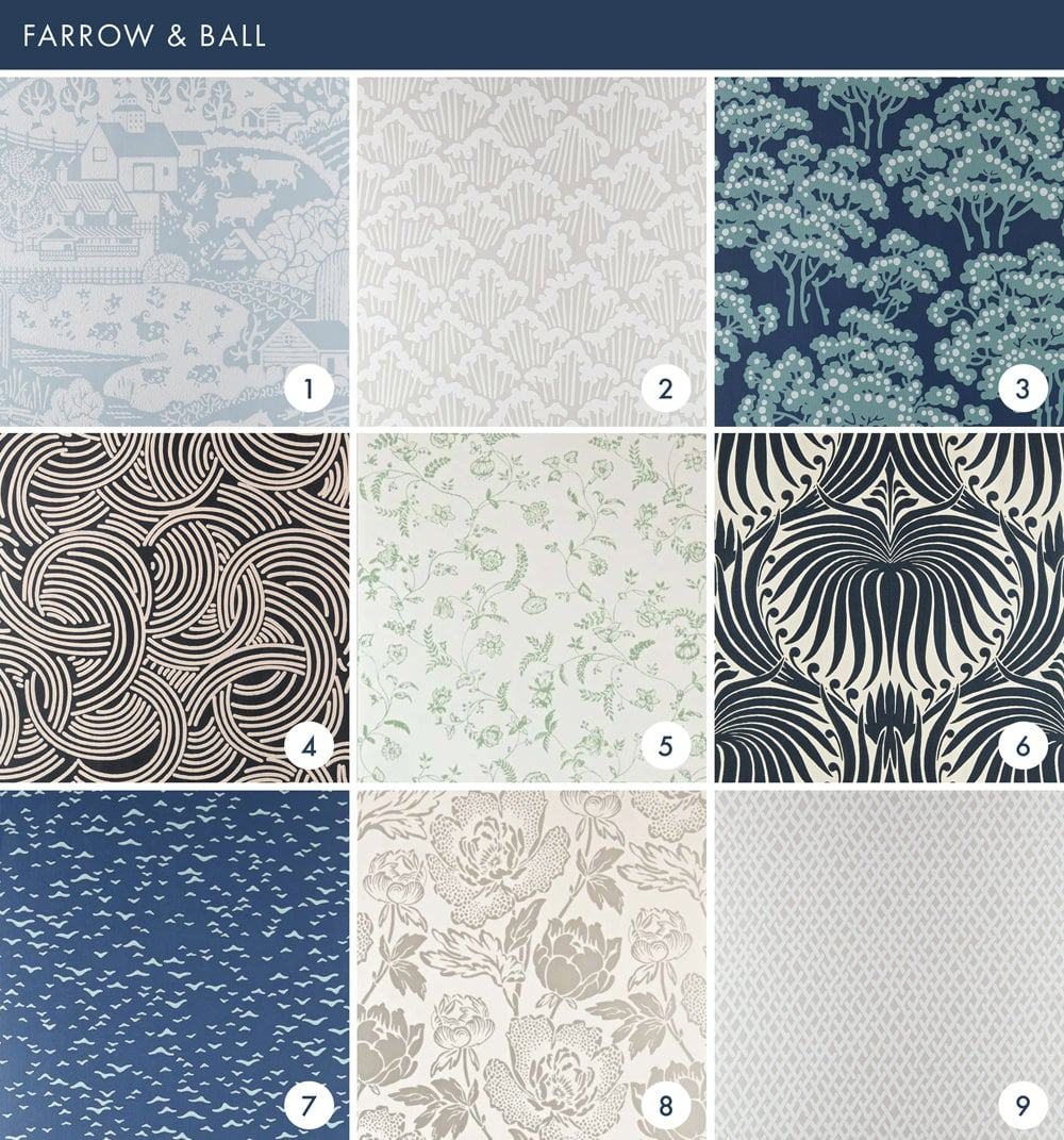 Emily Henderson Online Wallpaper Roundup Farrow & Ball 1