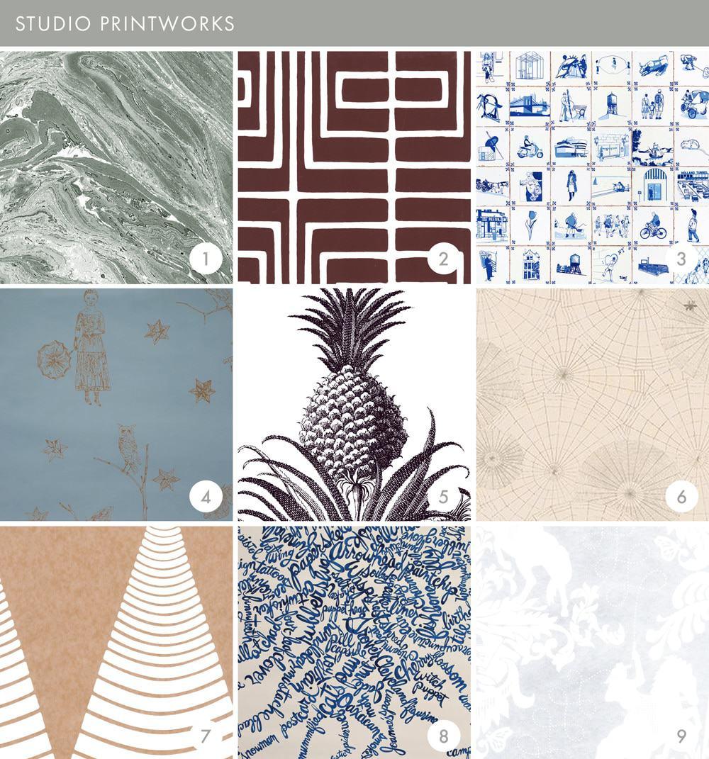 Emily Henderson Online Wallpaper Roundup Studio Print Works 1