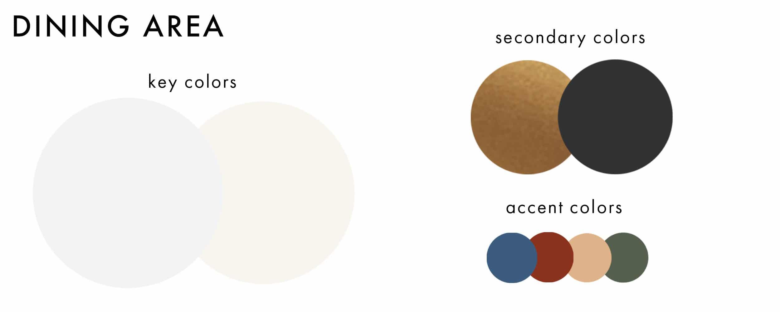 Dining Area Color Pallete