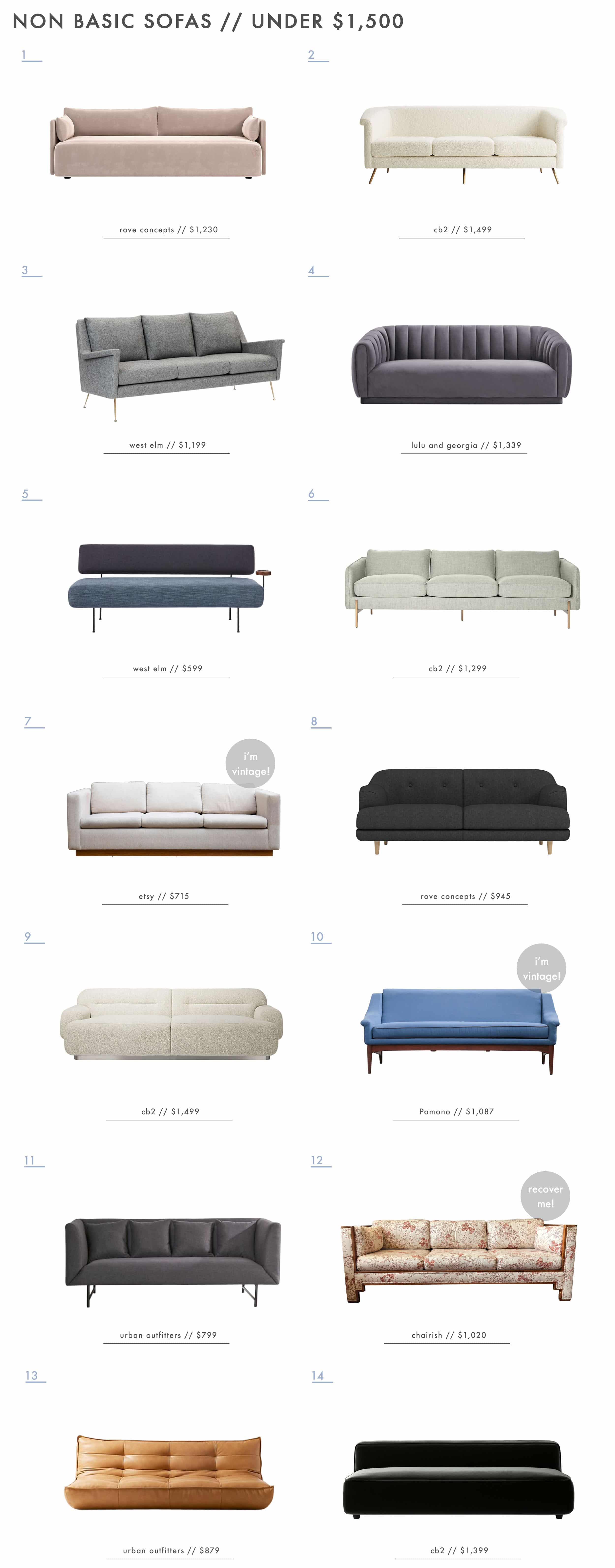 Emily Henderson Non Basic Sofas Under $1500 2 Across