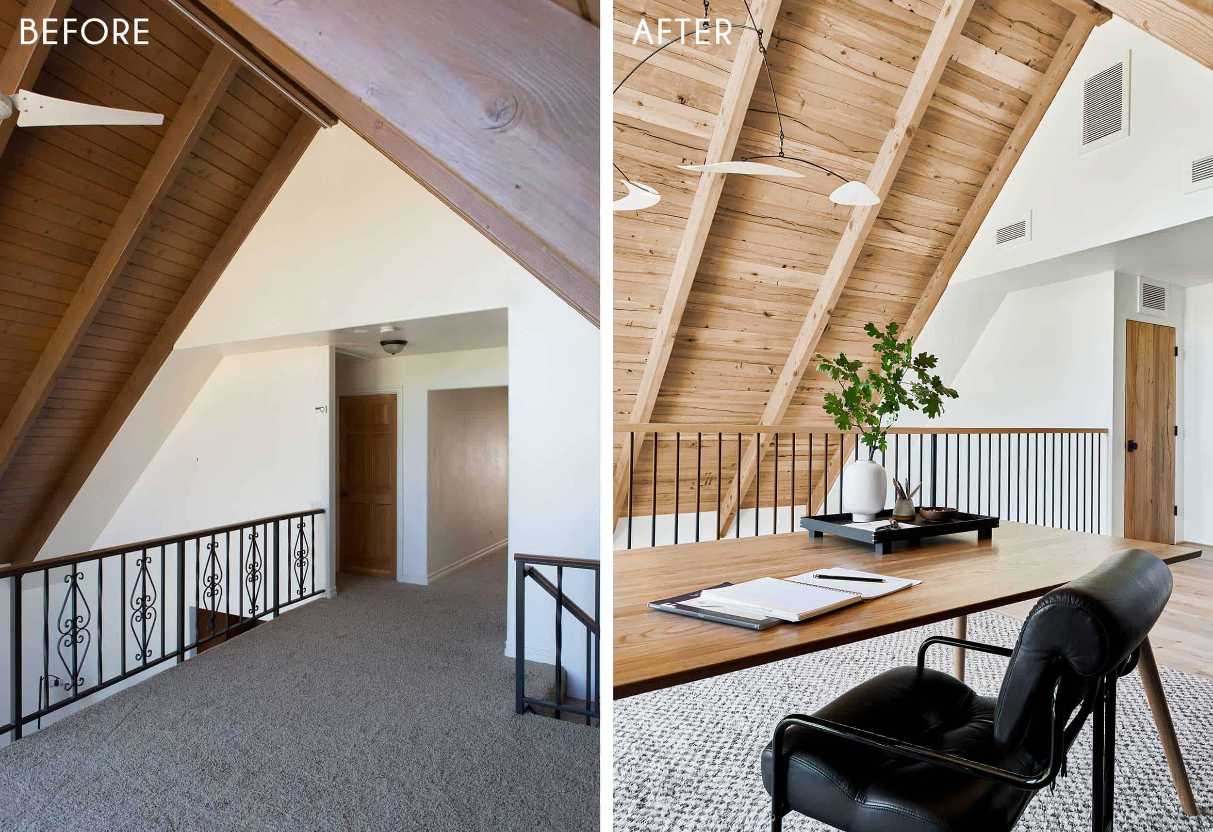 Emily Henderson Mountain House Home Office Loft17