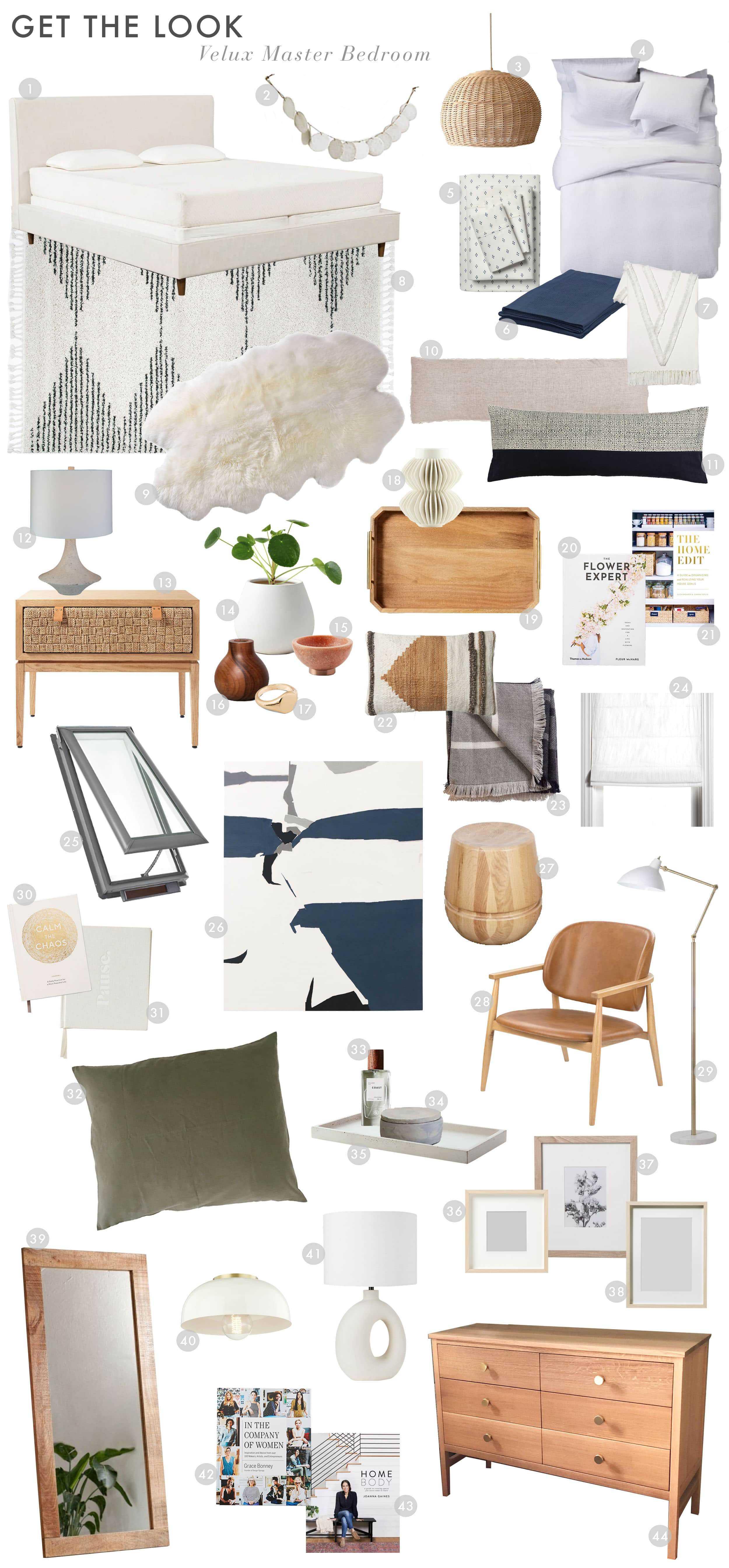 Emily Henderson Design Velux Master Bedroom Boho Neutral Get The Look 01