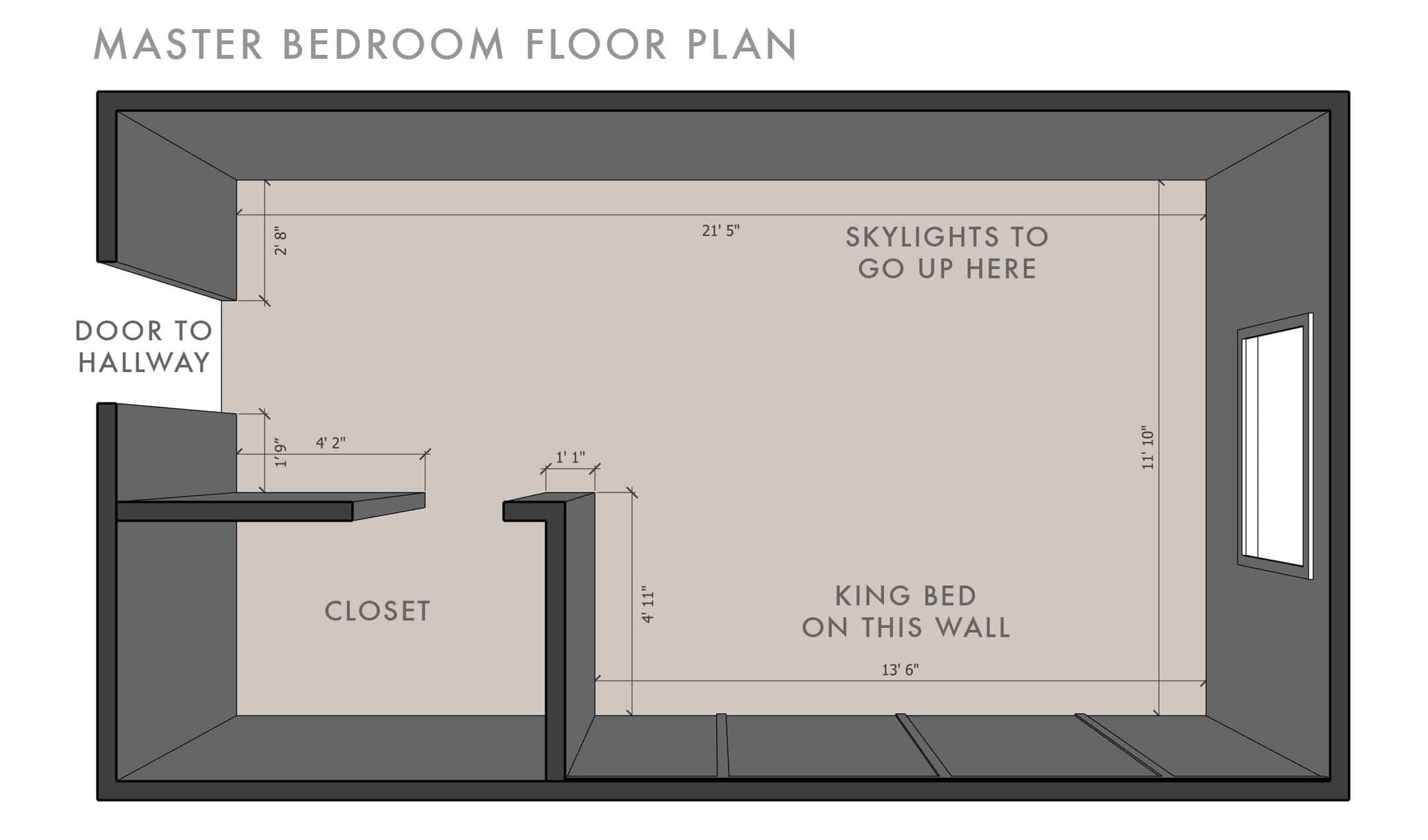Emily Henderson Velux Master Bedroom Floor Plan