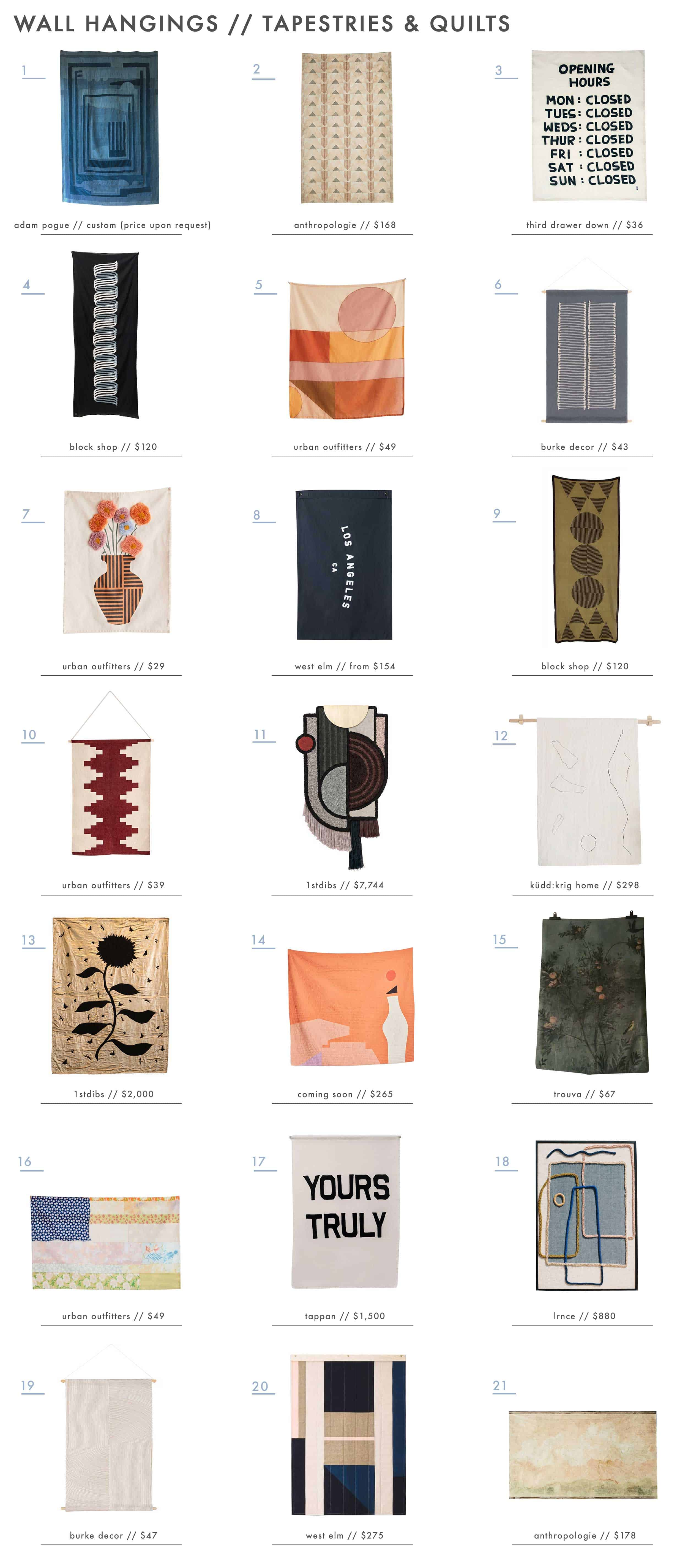Emily Henderson Wall Hangings Roundup Tapestry