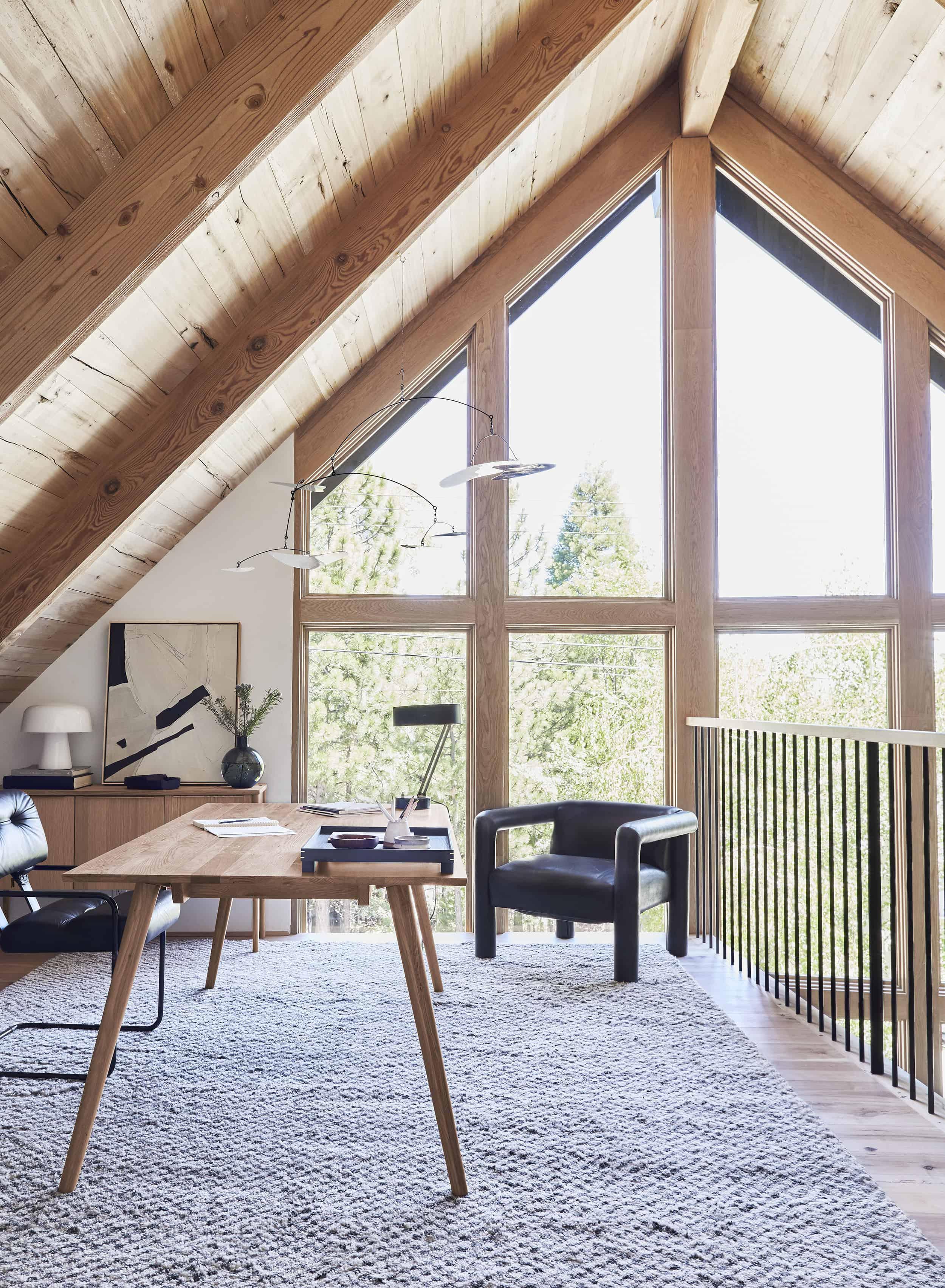 Emily Henderson Mountain House Home Office Loft13