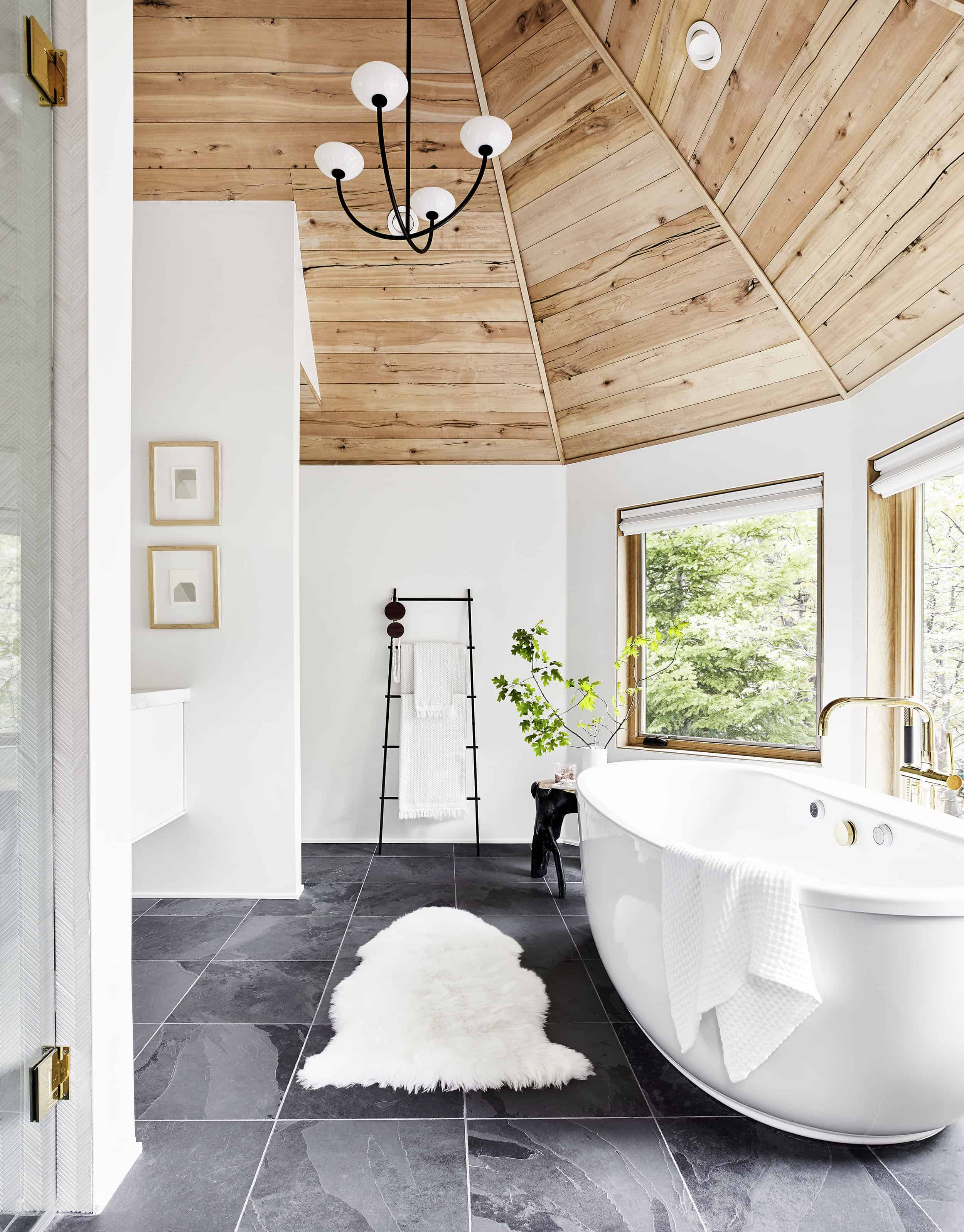 How I Designed My Spa Inspired Mountain House Master Bathroom