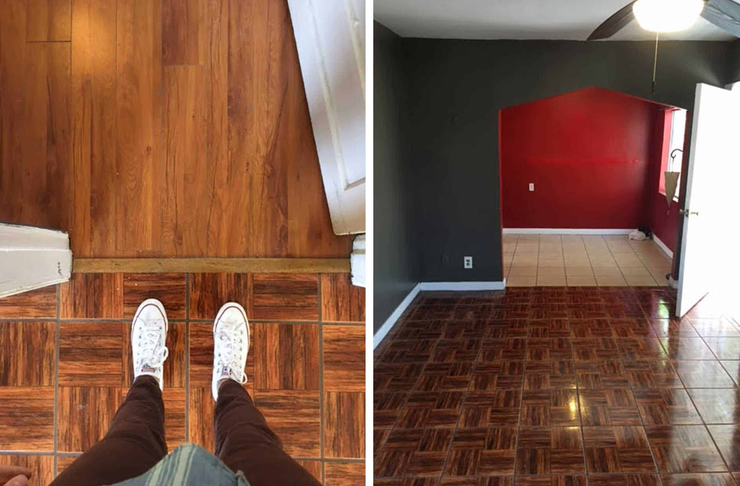 Mixed Floors + Living Room