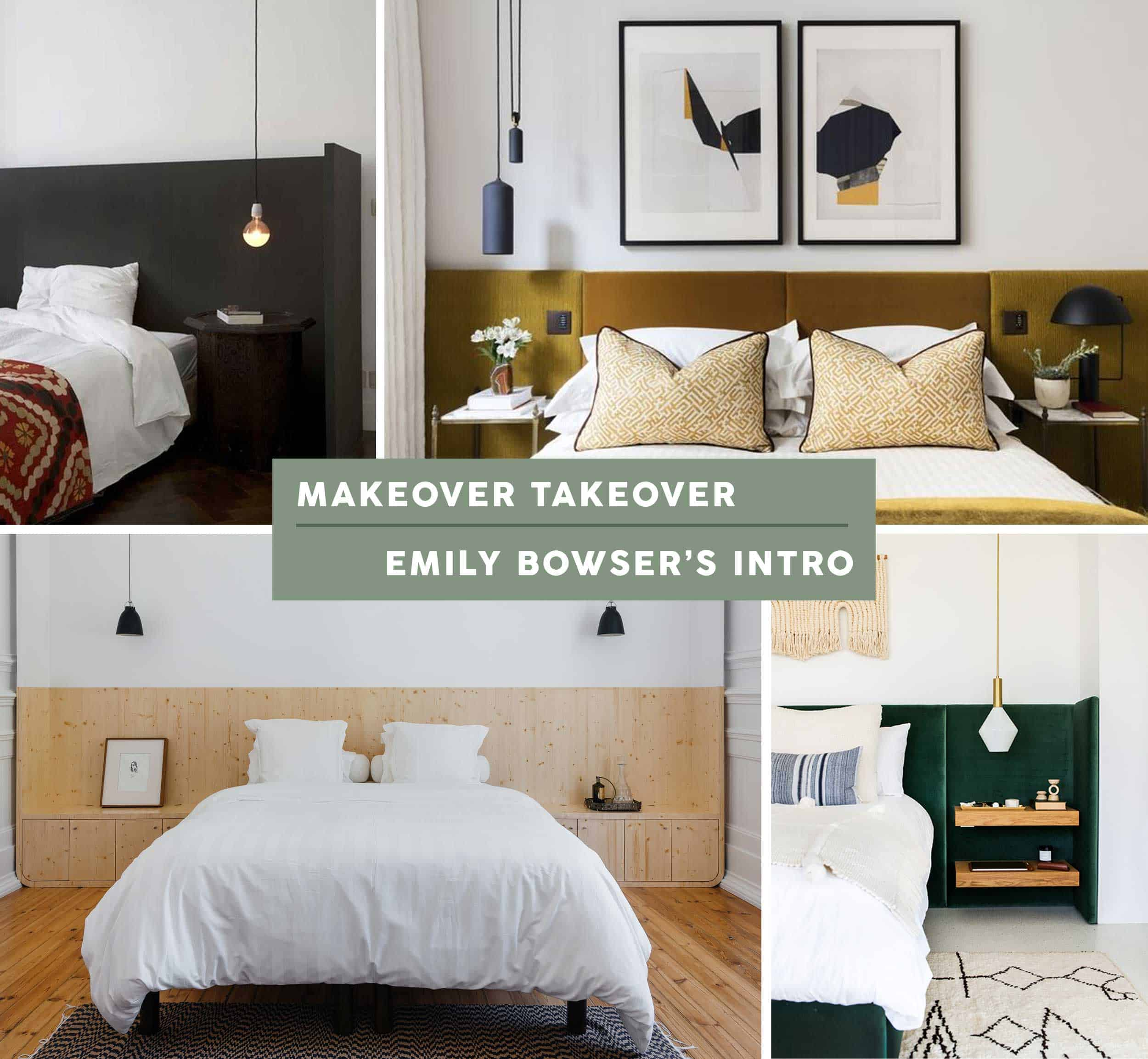 Makeover Takeover How Ehd Stylist Emily Bowser Tackled Her Awkward Master Bedroom Emily Henderson
