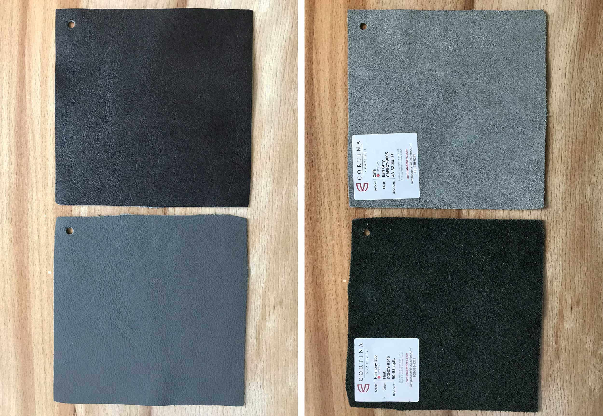 Crypton Leather Samples Side By Side