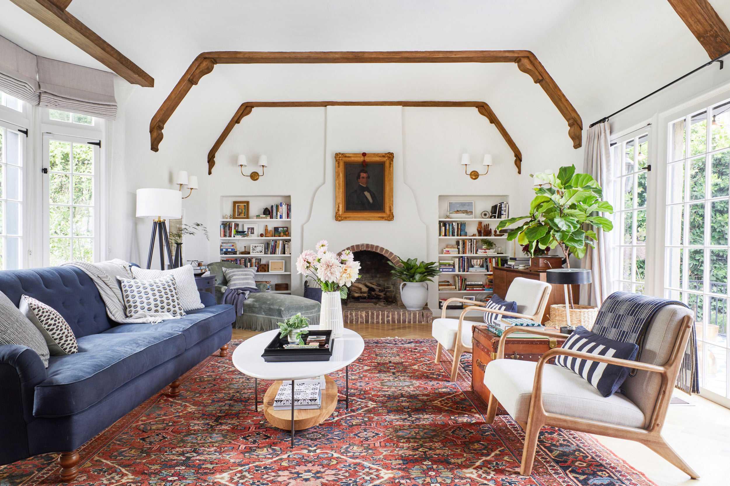 Emily Henderson Modern English Cottage Tudor Living Room Reveal10