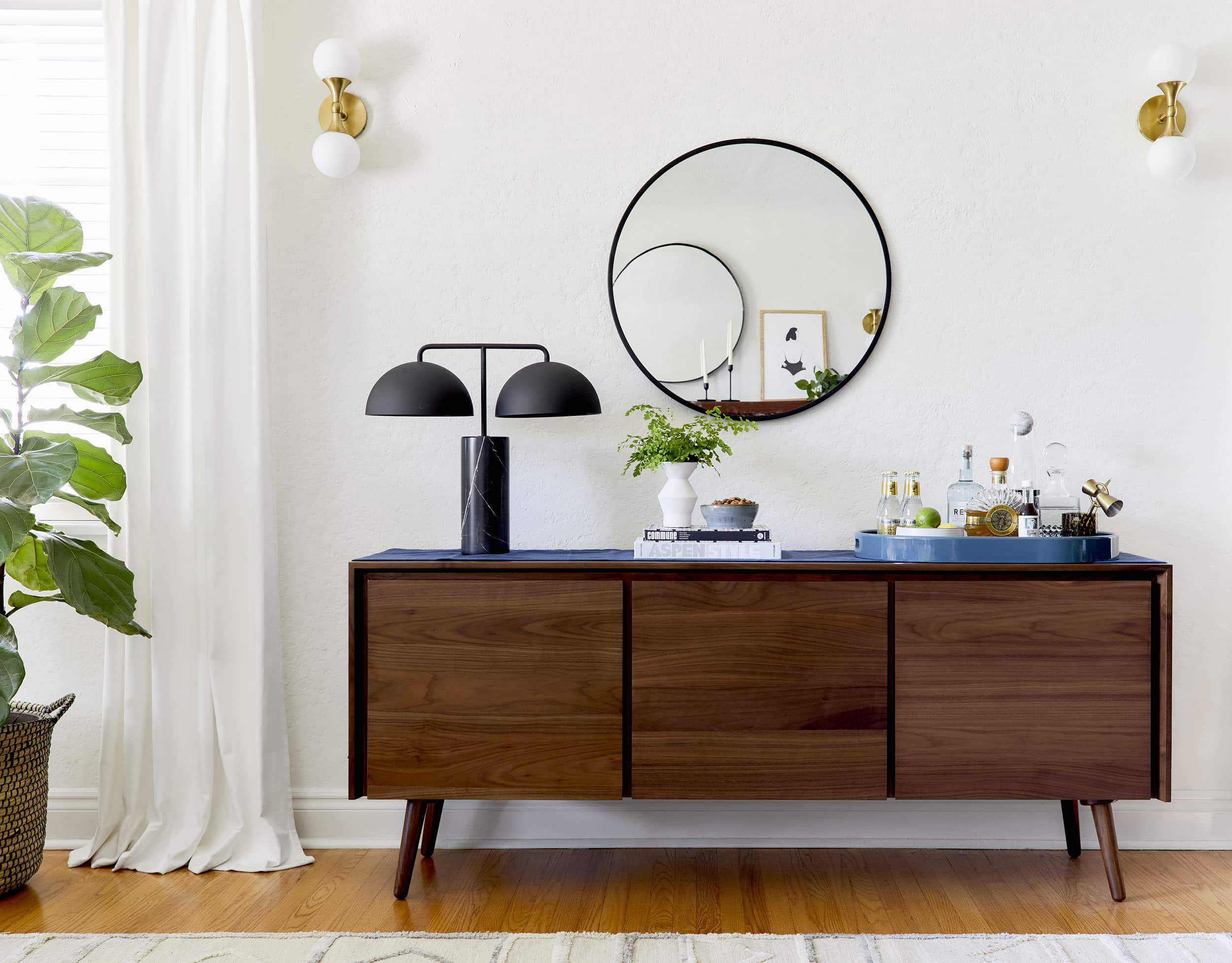 How To Style A Bar Credenza 1