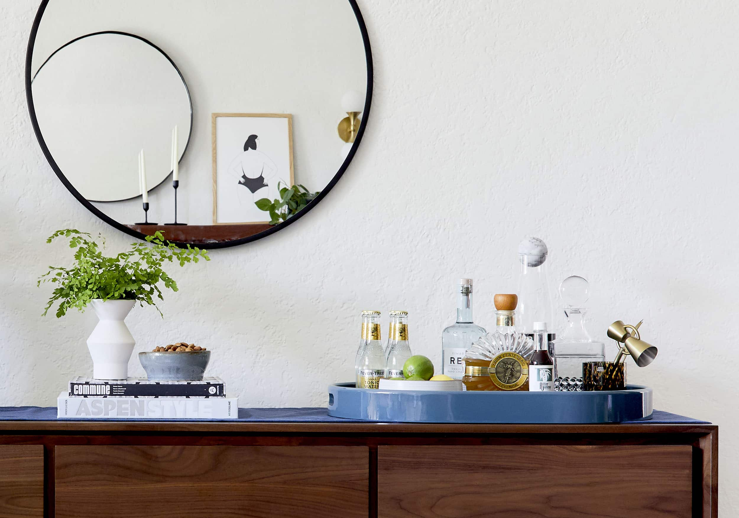 How To Style A Bar Credenza 3