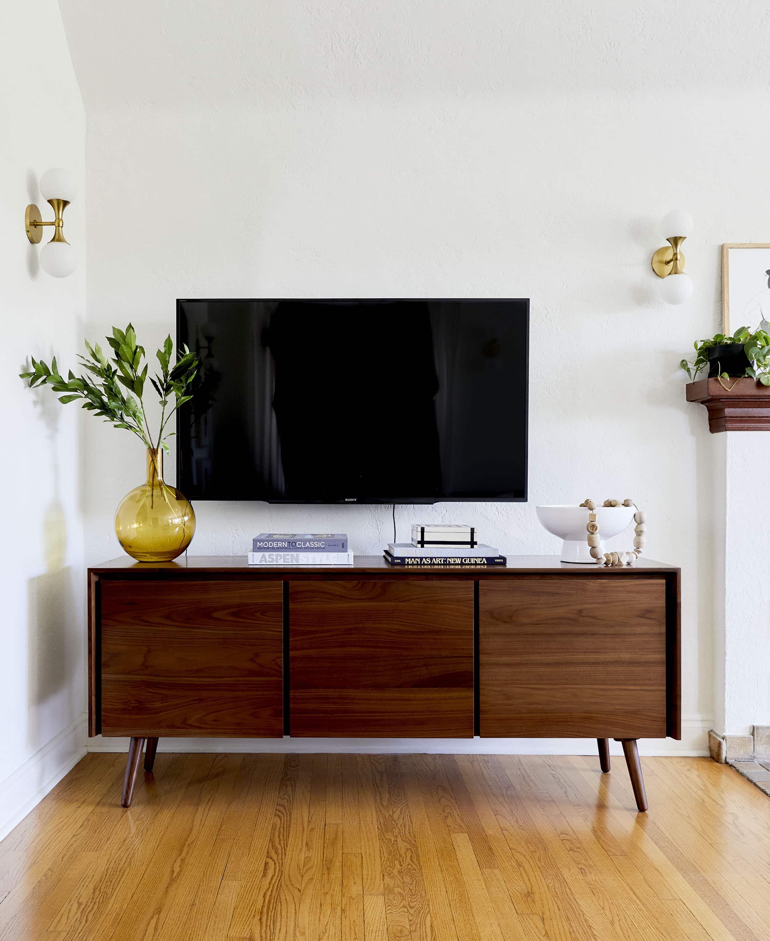 How To Style A Tv Credenza 5