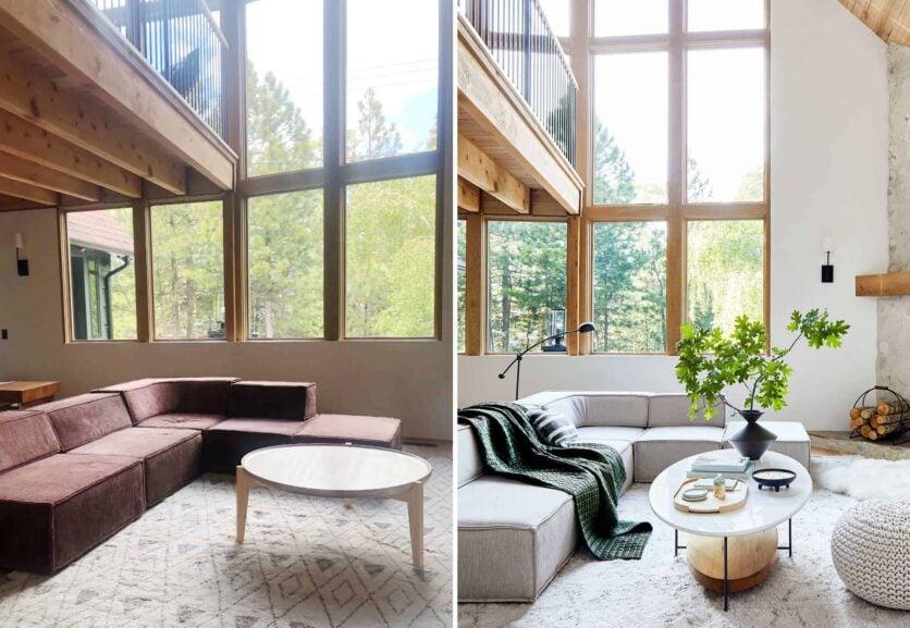Living Room Sofa B&a