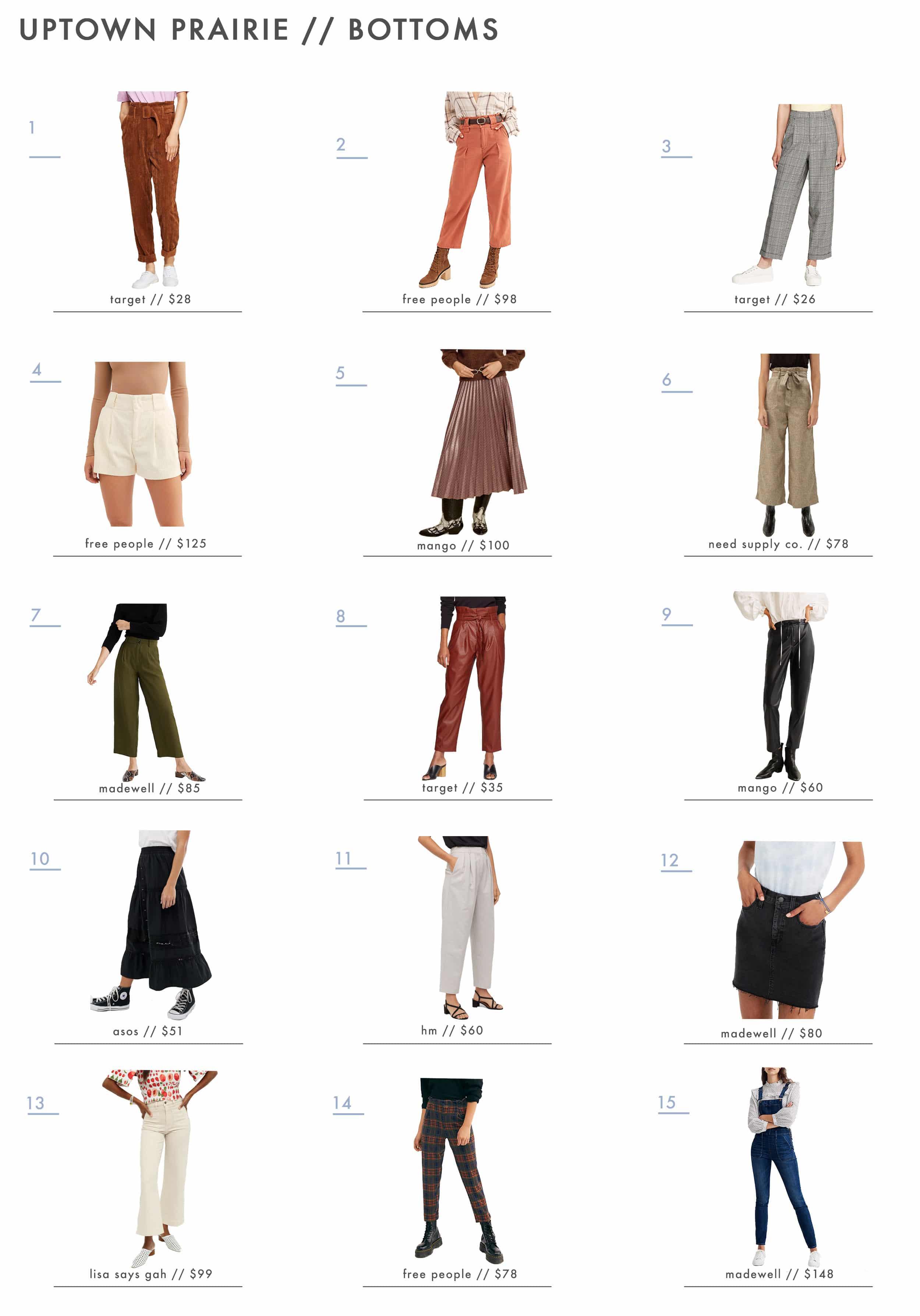 Emily Henderson Affordable Prairie Fashion Trend Bottoms