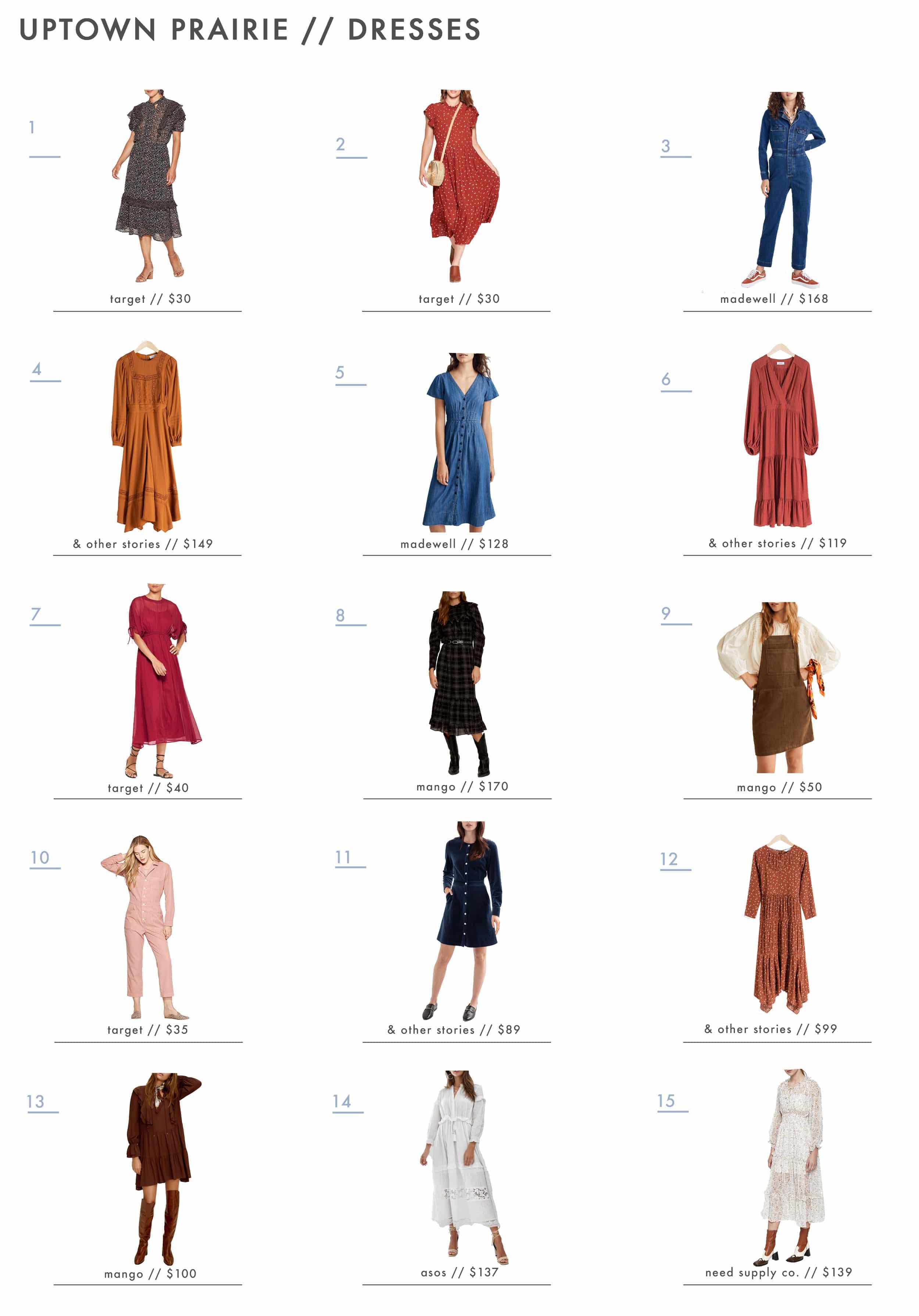 Emily Henderson Affordable Prairie Fashion Trend Dresses