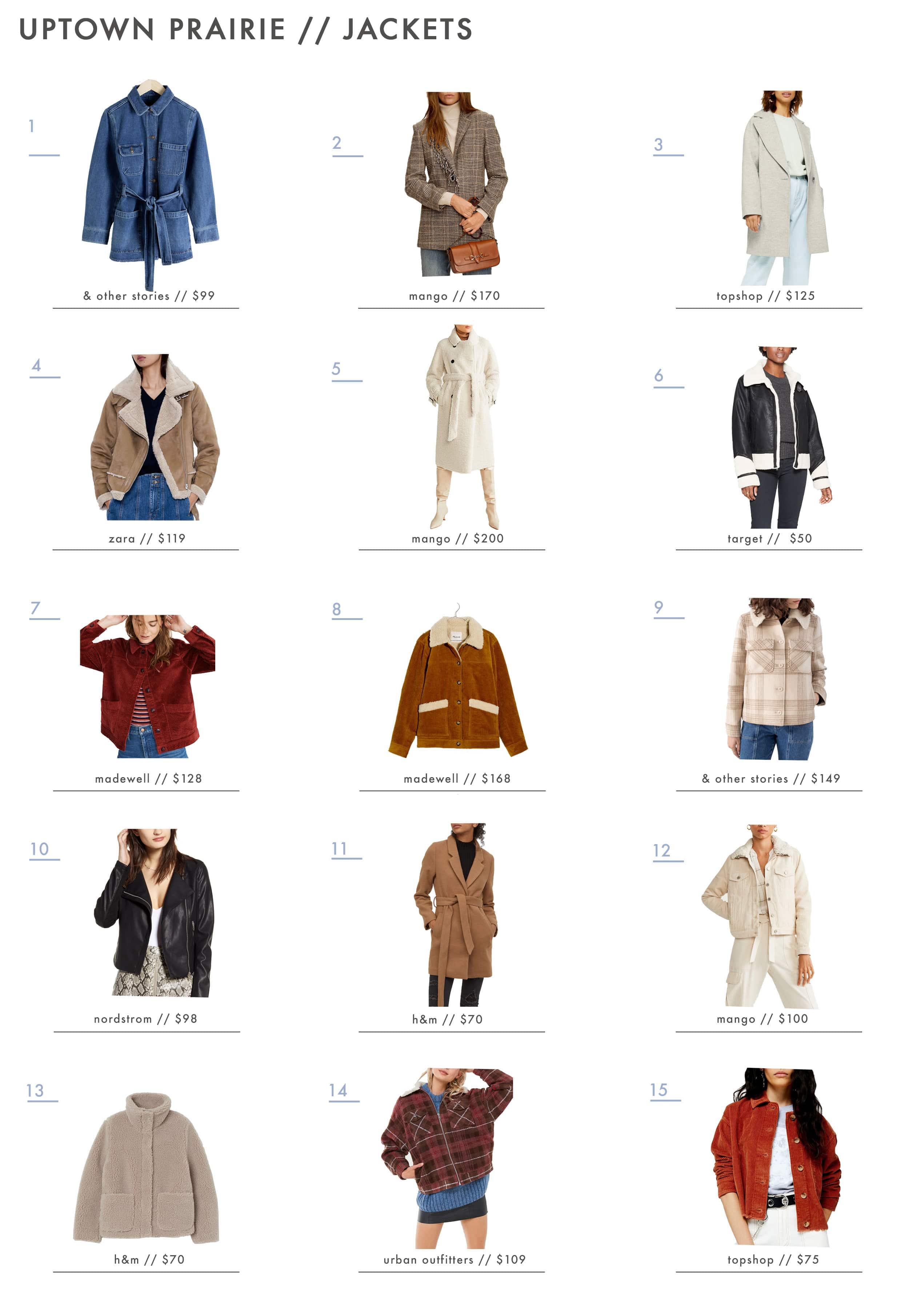 Emily Henderson Affordable Prairie Fashion Trend Jackets