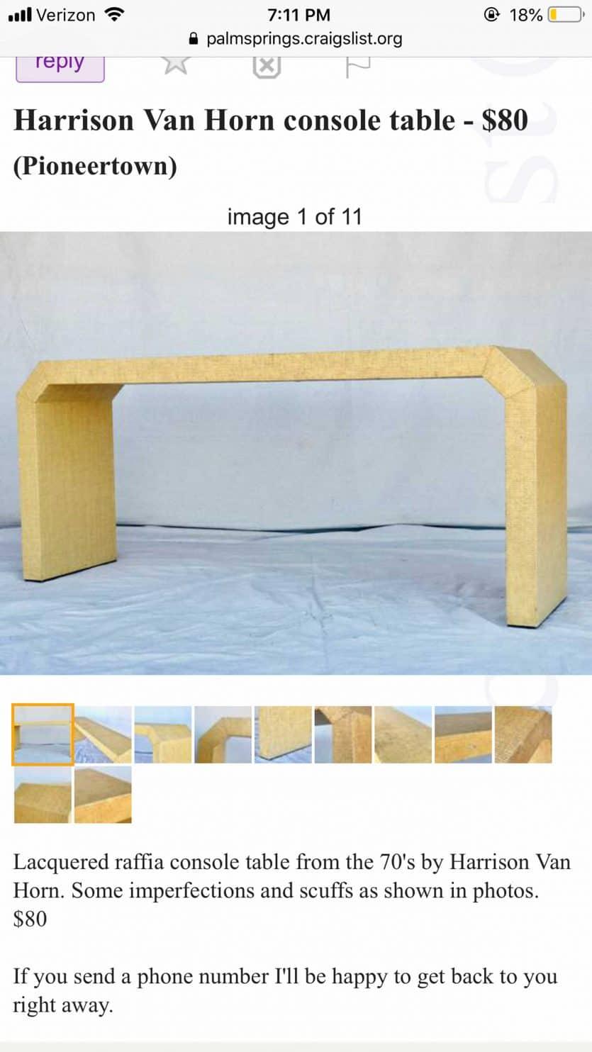 Raffia Table