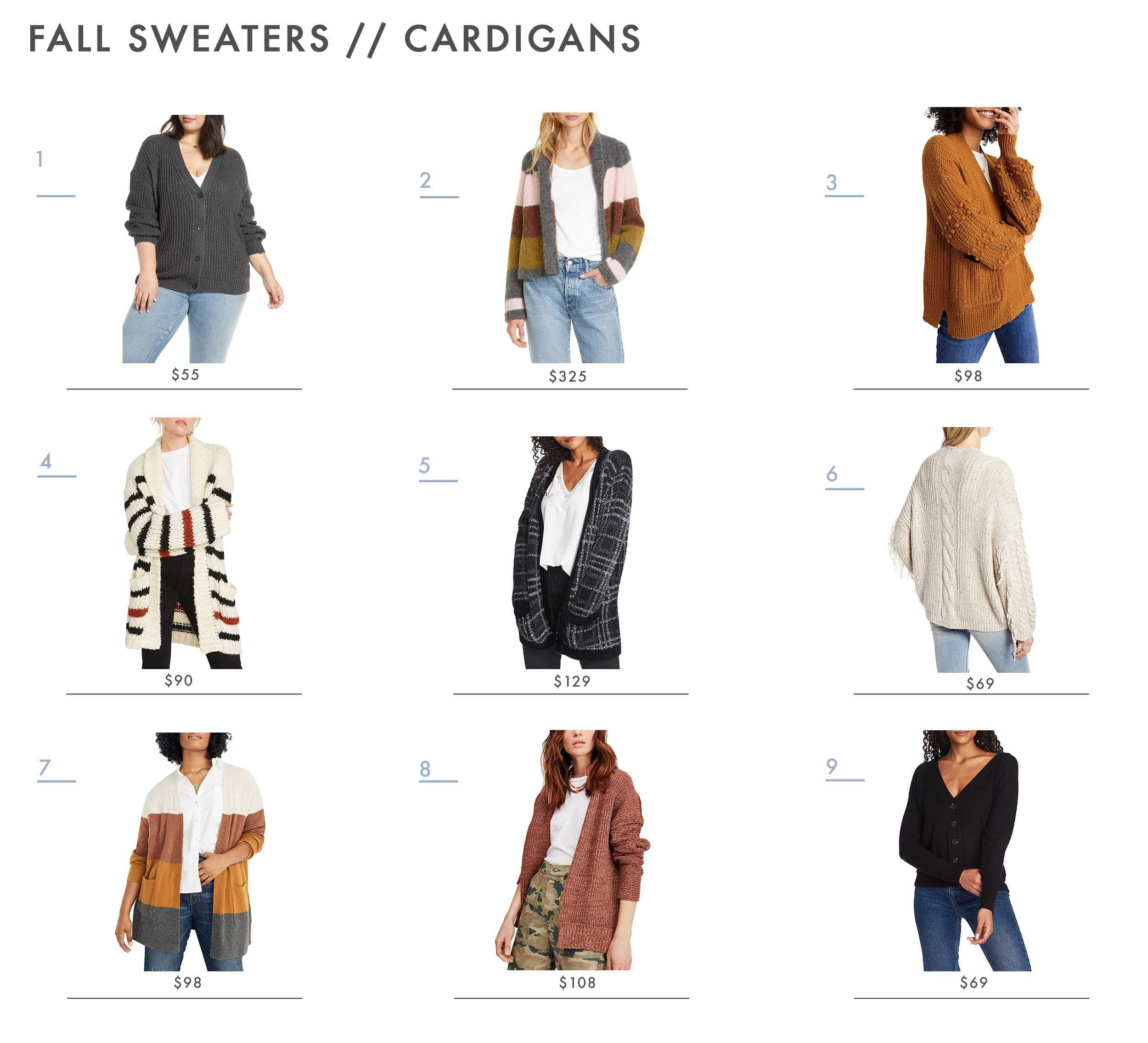 Emily Henderson Fall Sweaters Cardigans