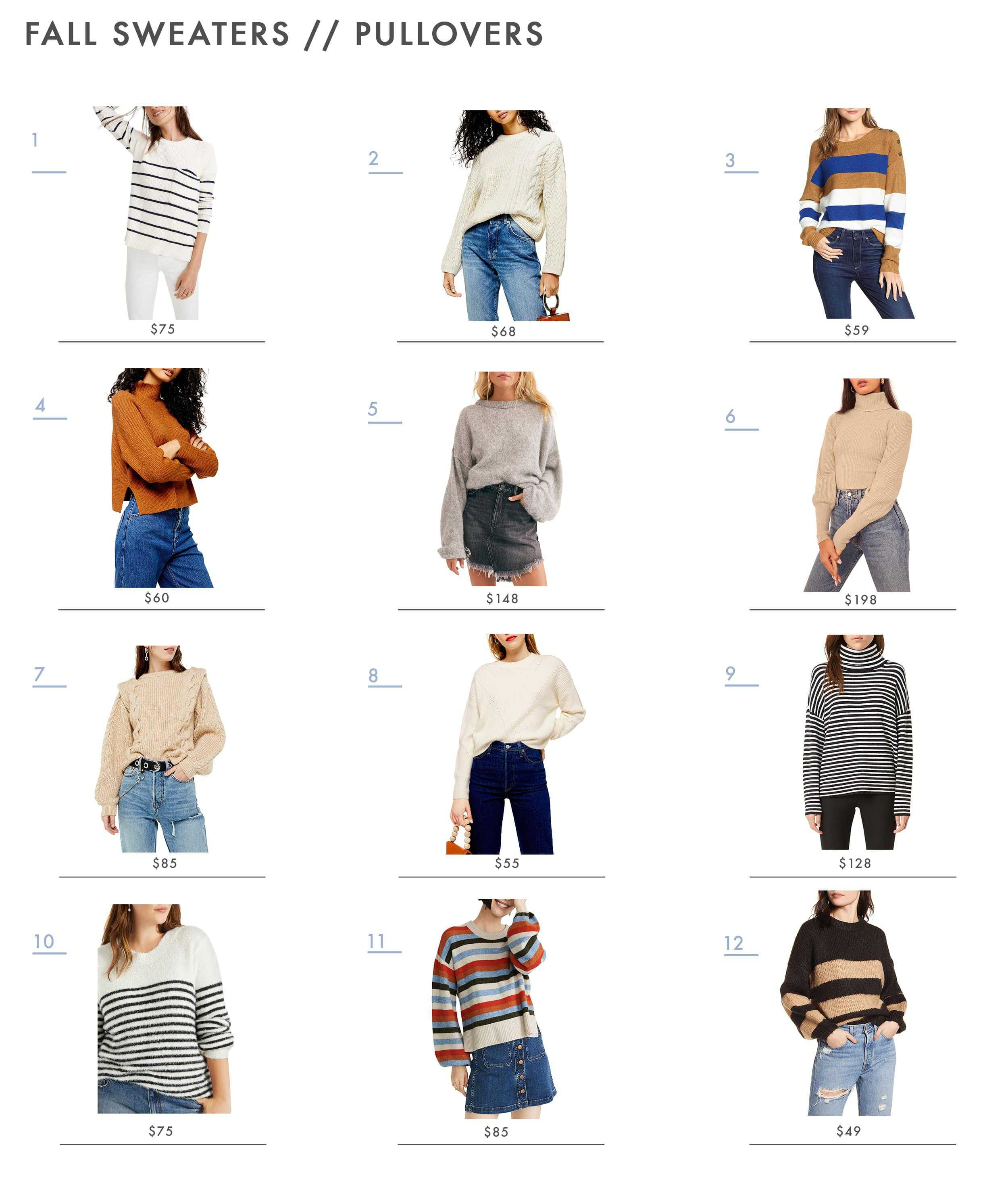 Emily Henderson Fall Sweaters Pullovers