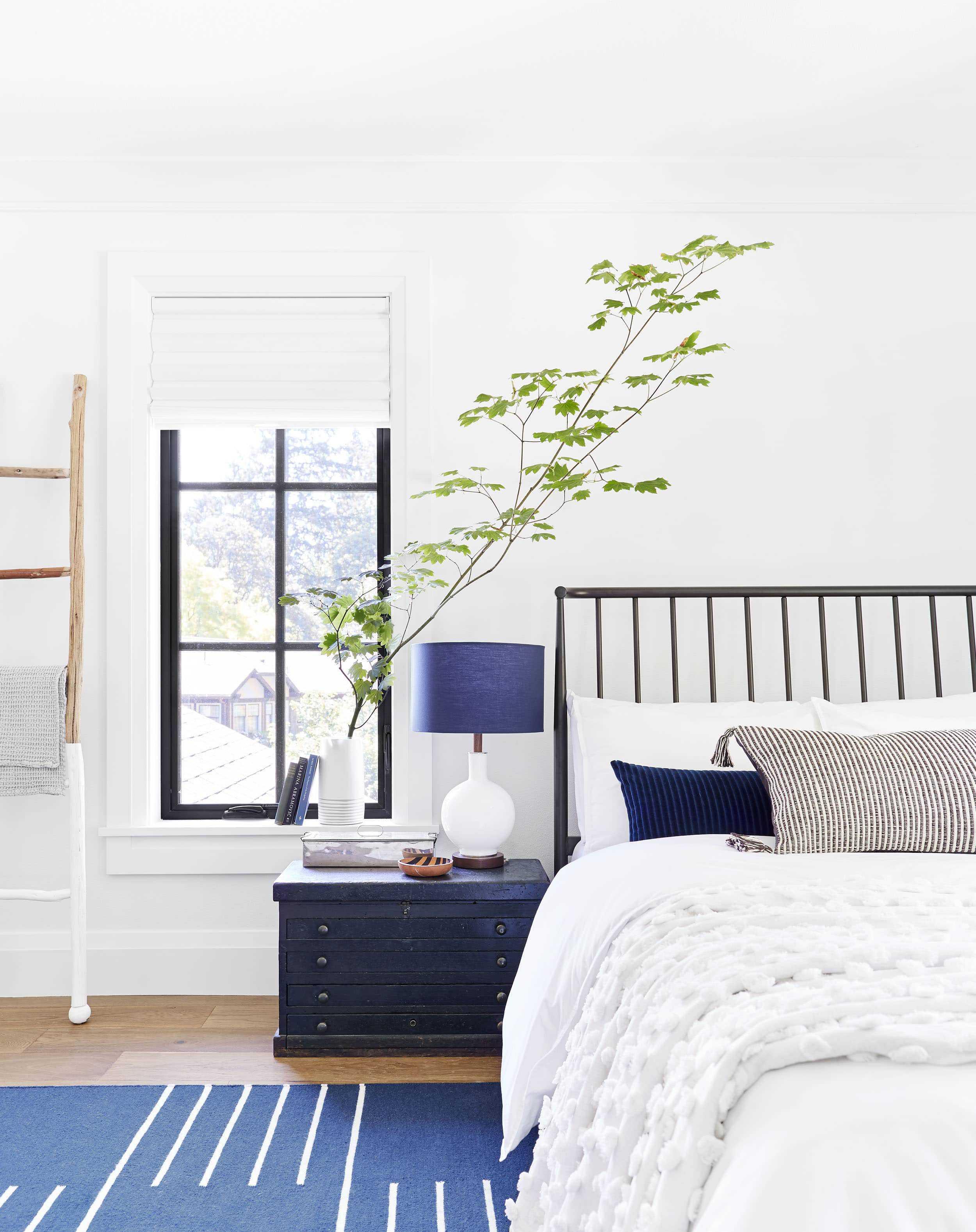 Emily Henderson Portland Traditional Blue Bedroom1