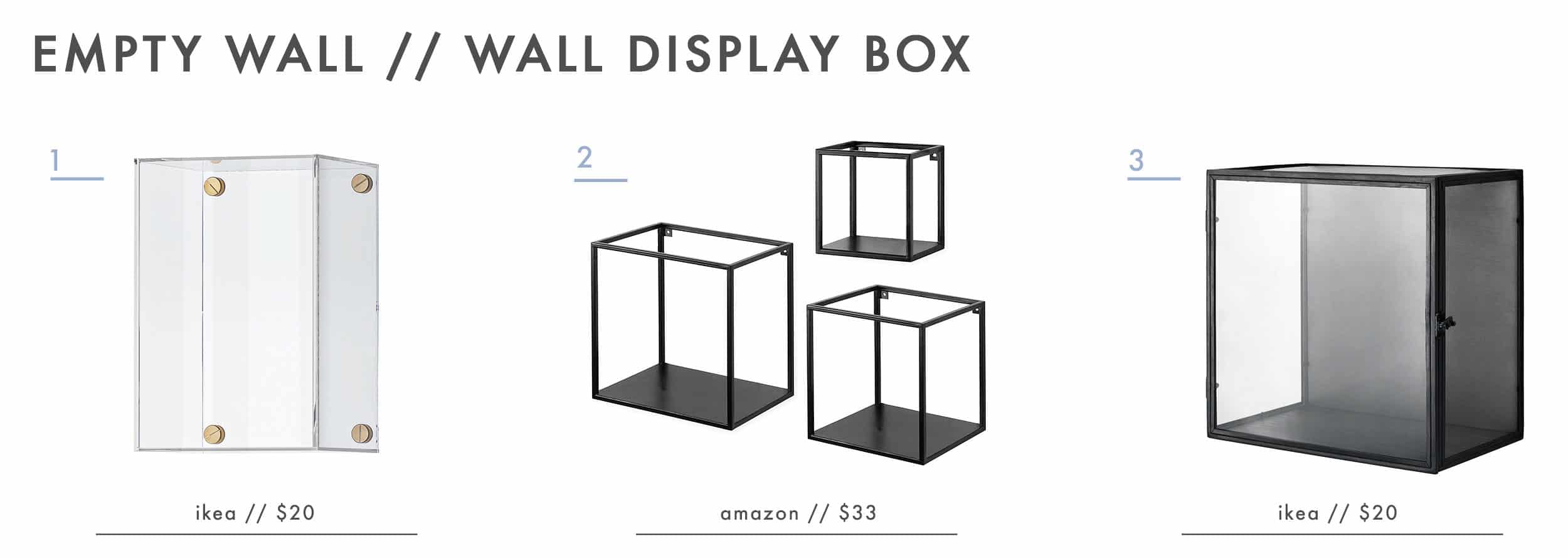 Emily Henderson Design Agony Empty Wall Living Room Display Boxes