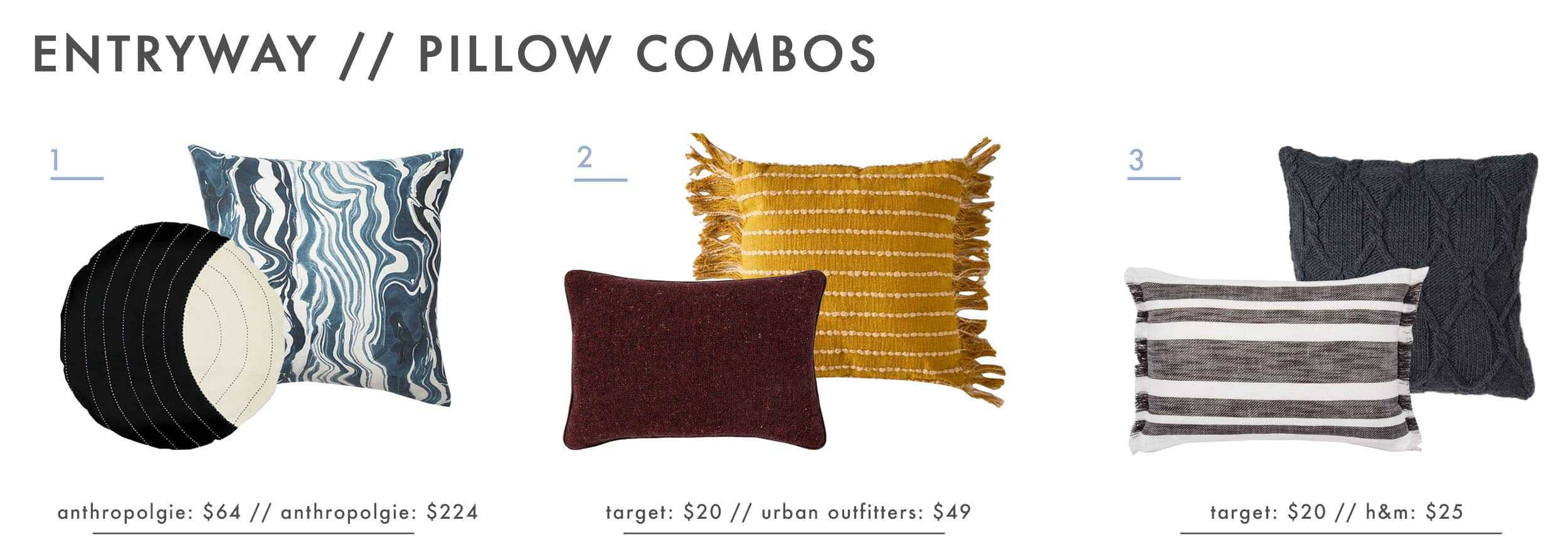 Emily Henderson Design Agony Entryway Pillow Combos