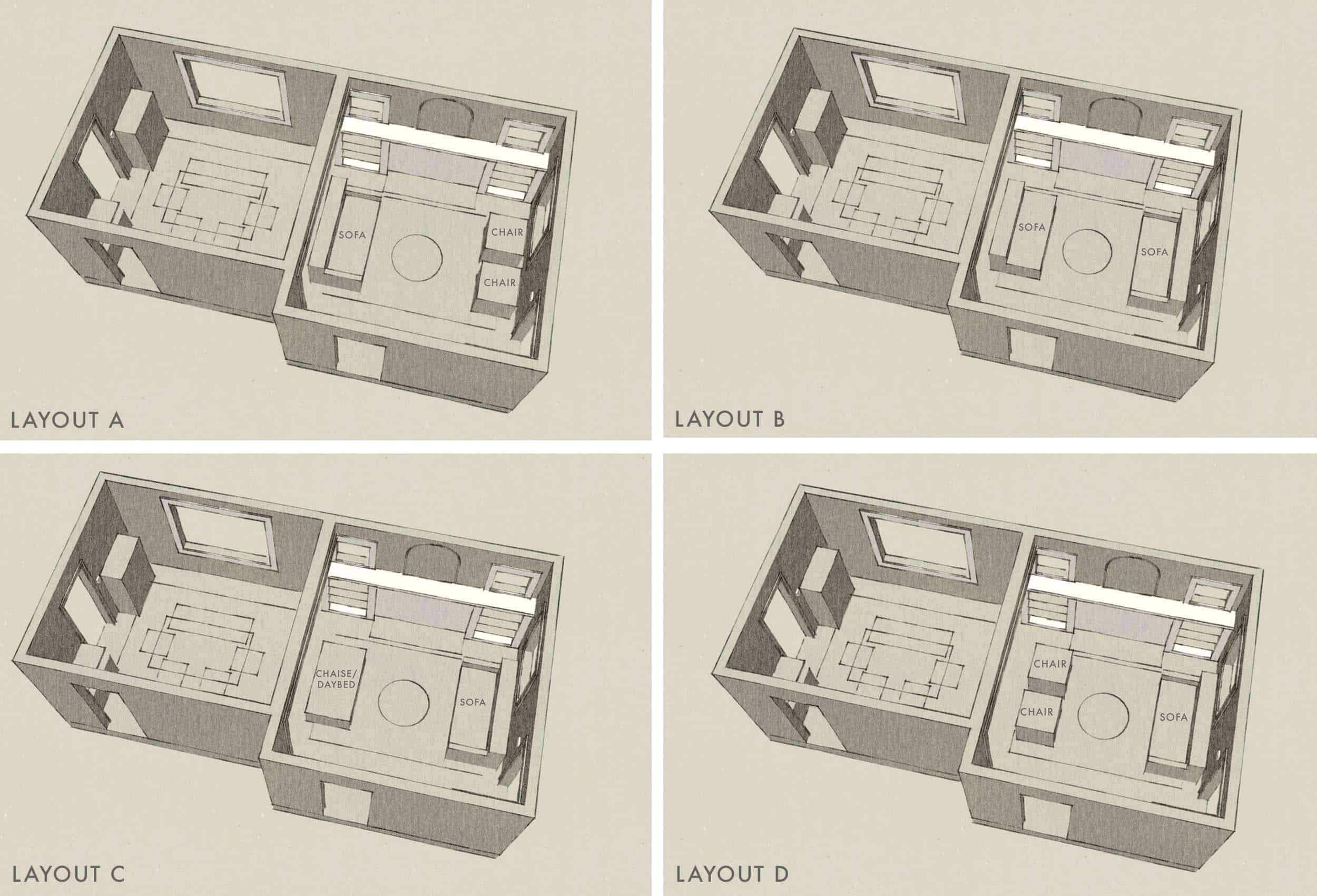 Sara & Mac Design Process Layouts 1