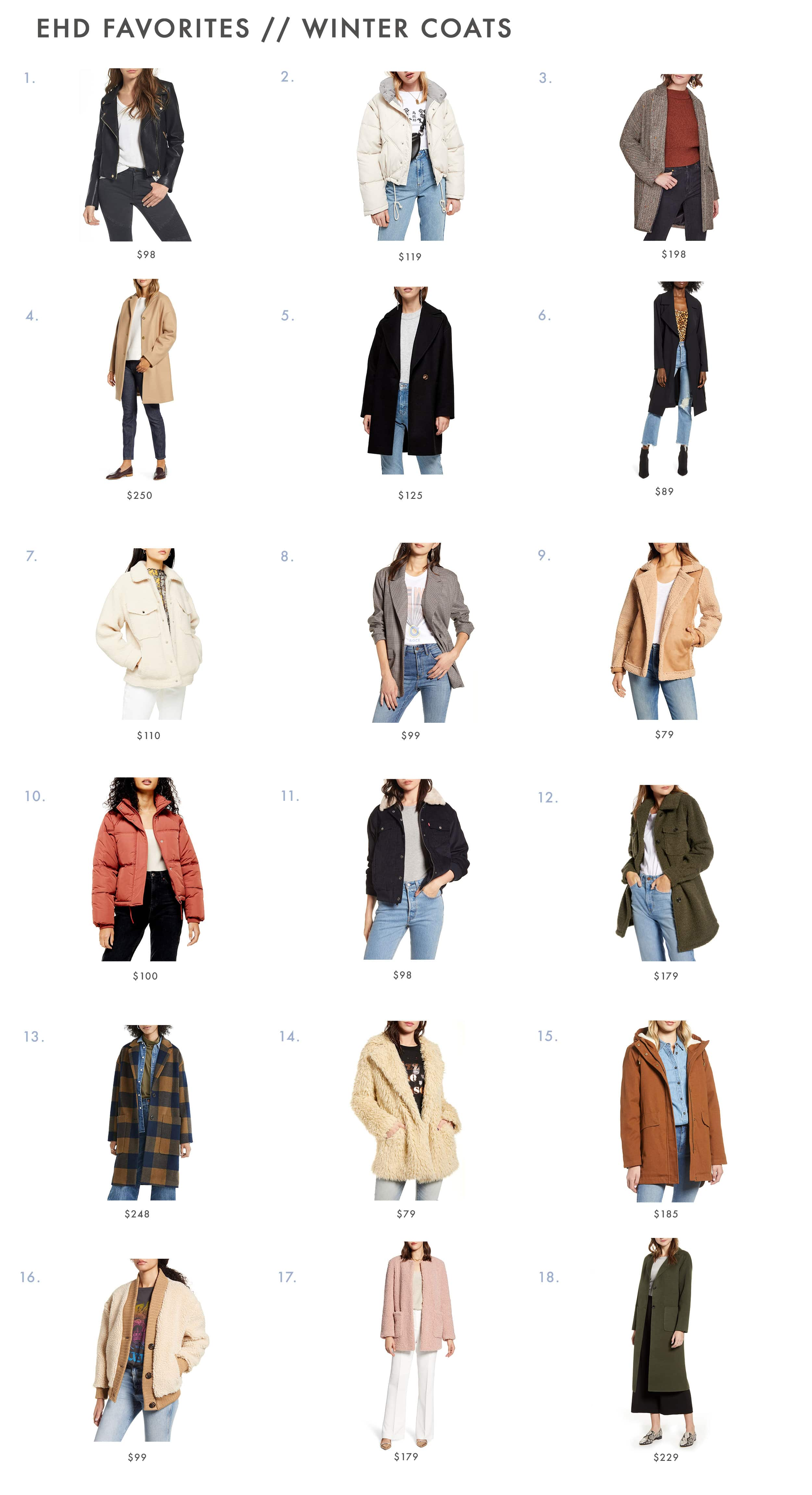 Emily Henderson Winter Coats Roundup