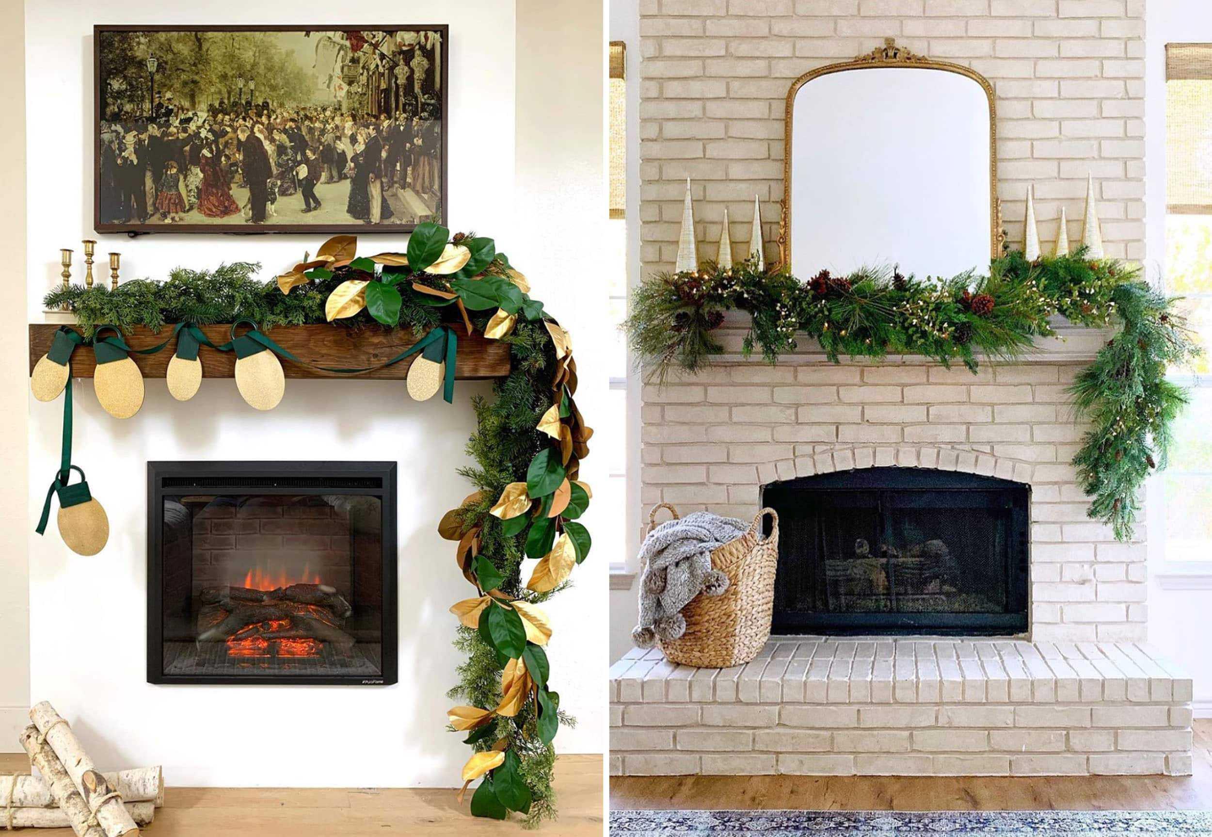 Emily Henderson Holiday 2019 New Decor Ideas Asymmetrical Garland