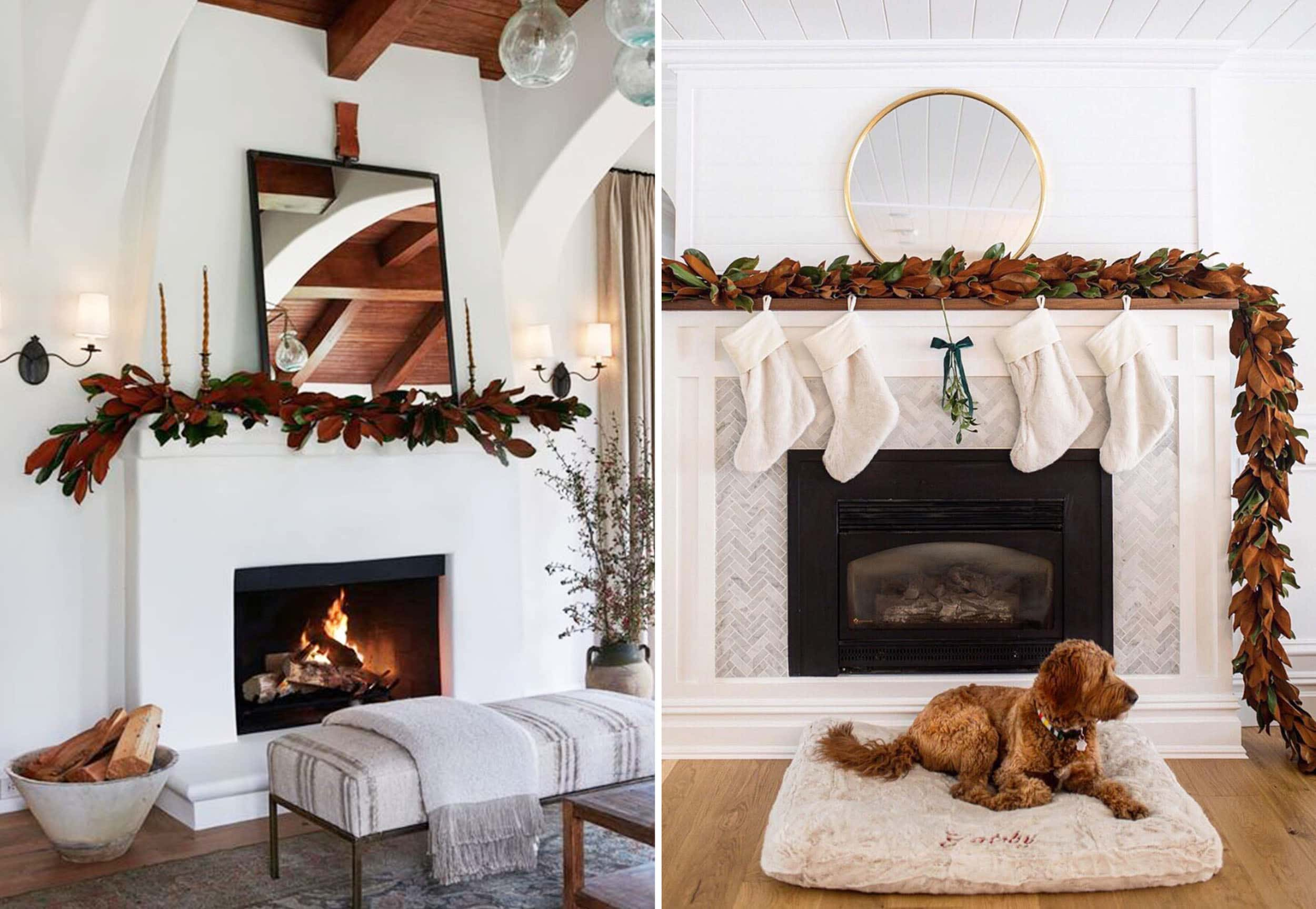 Emily Henderson Holiday 2019 New Decor Ideas Magnolia Leaves