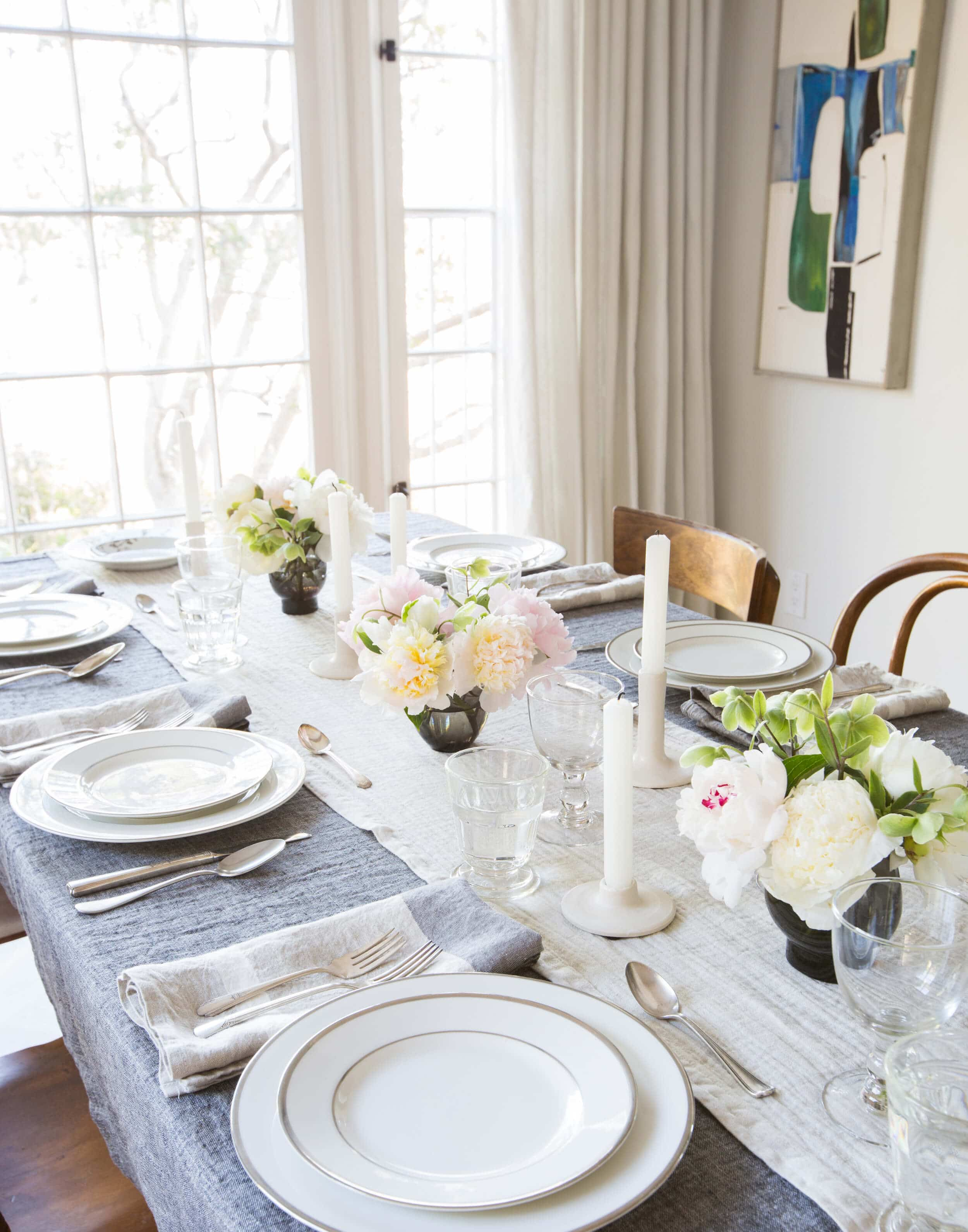 Emily Henderson Paracute Tablescape Neutral Linen Natural 13