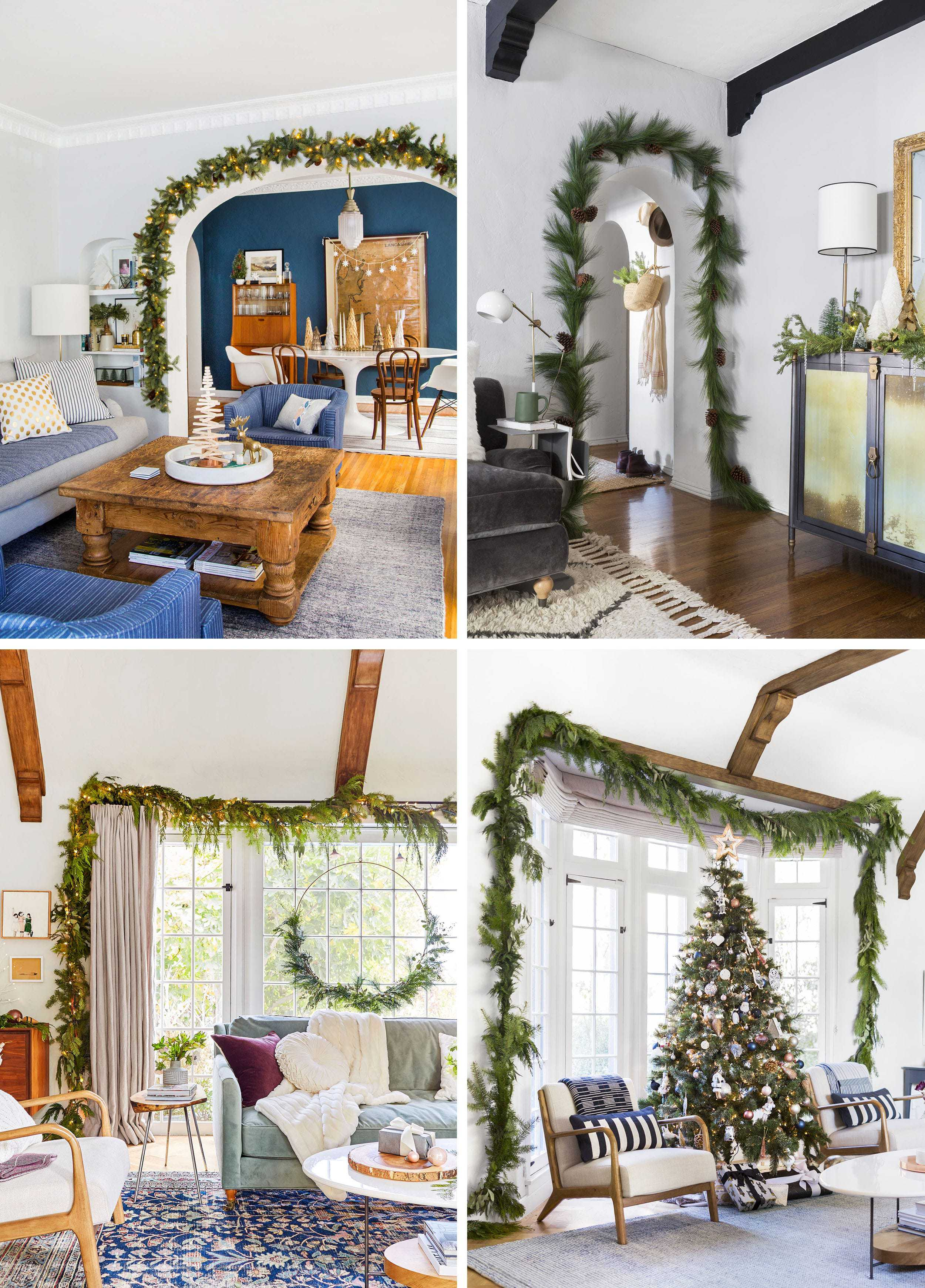 Emily Henderson Holiday Vignettes Archway Garland