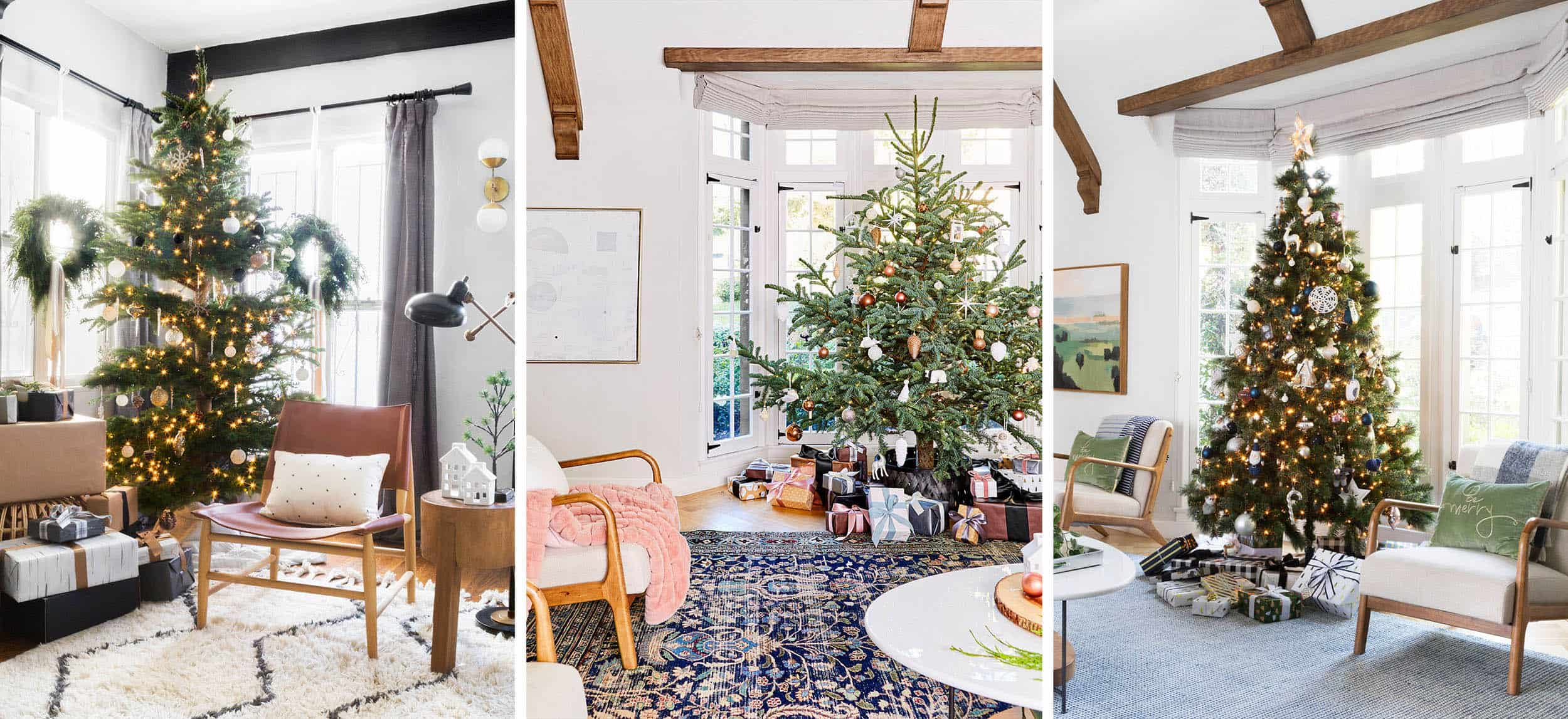 Emily Henderson Holiday Vignettes Modern Tree